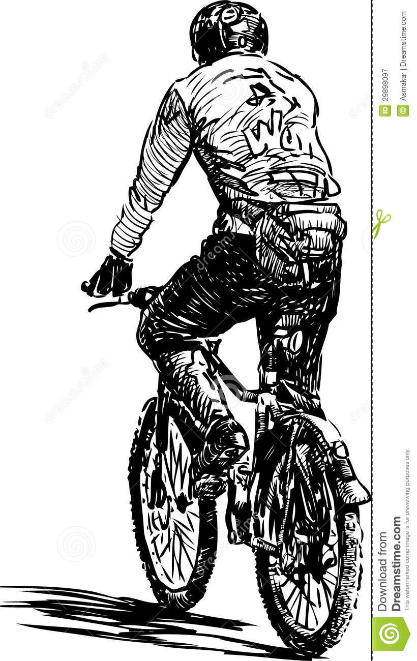 Cycliste image stock image du champion forme bicyclette - Cycliste dessin ...