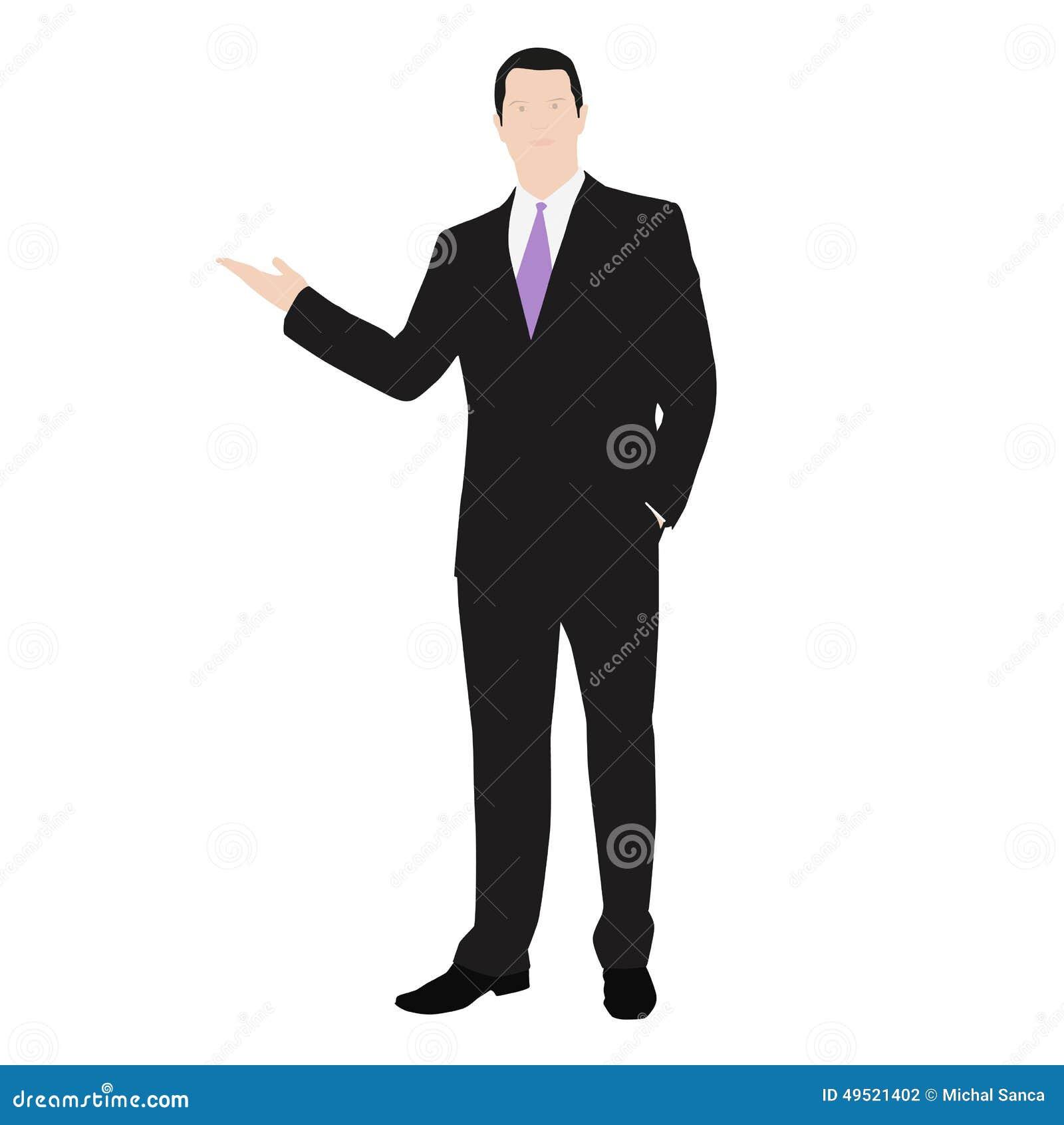 Dirigez le dessin d 39 un homme r ussi habill dans un - Dessin costume ...