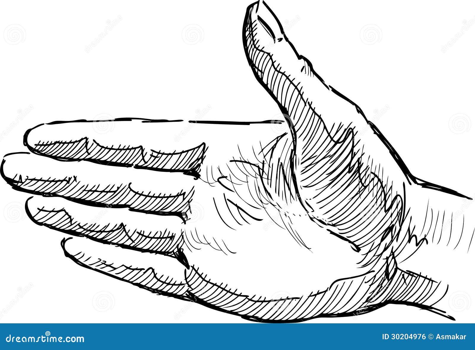 Paume humaine image libre de droits image 30204976 - Dessin de la main ...