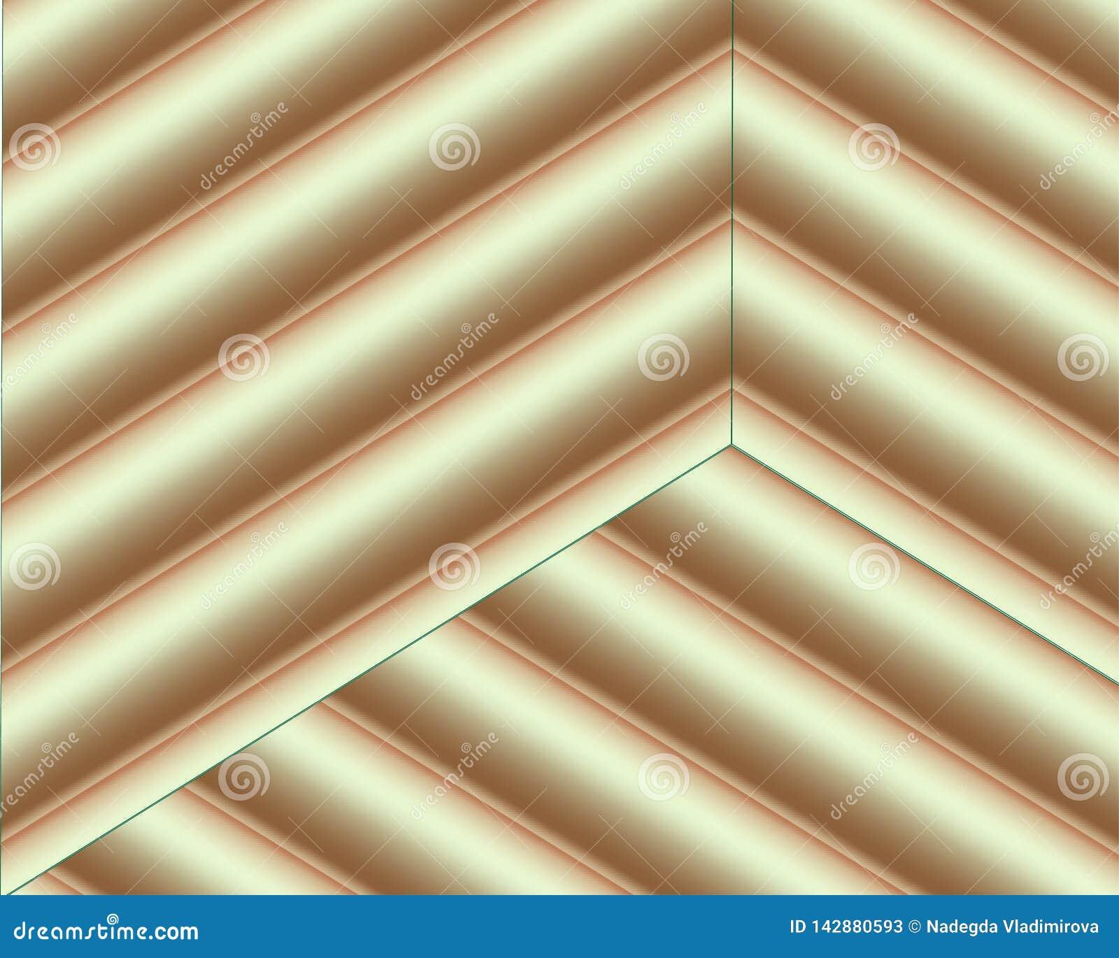 Dirigez le fond avec des formes brunes et beiges de coupe de papier de couleur style de papier abstrait de l art 3D, disposition