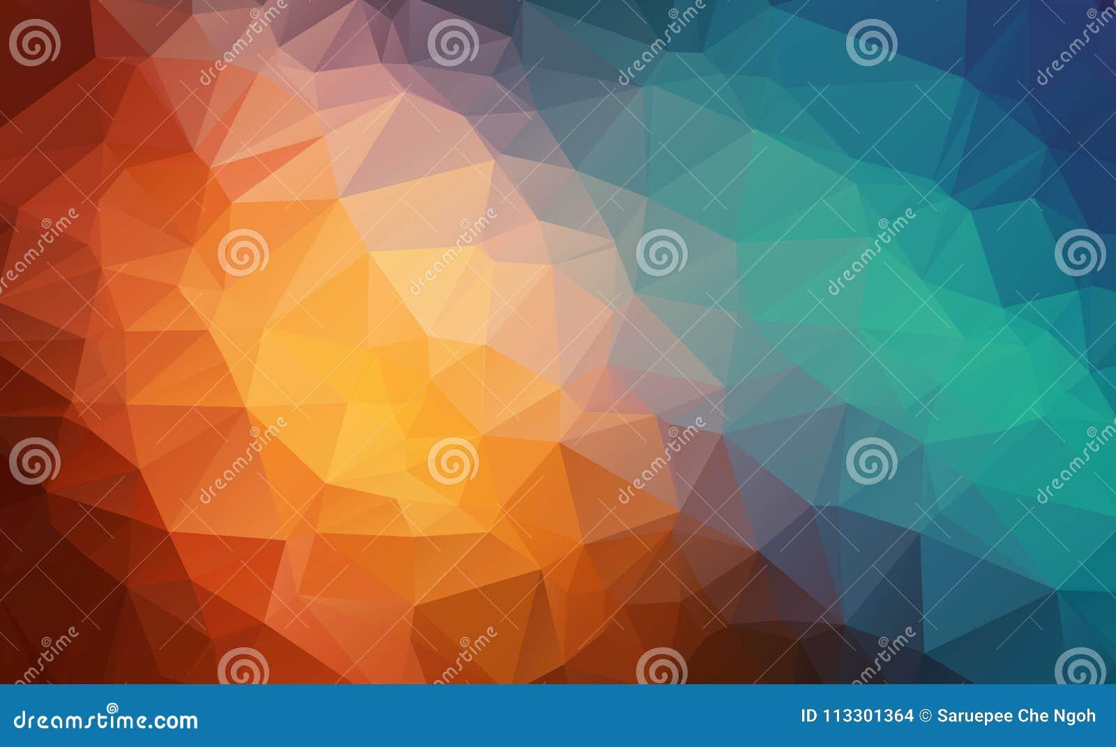 Dirigez le fond géométrique polygonal moderne abstrait de triangle de polygone Fond géométrique coloré de triangle