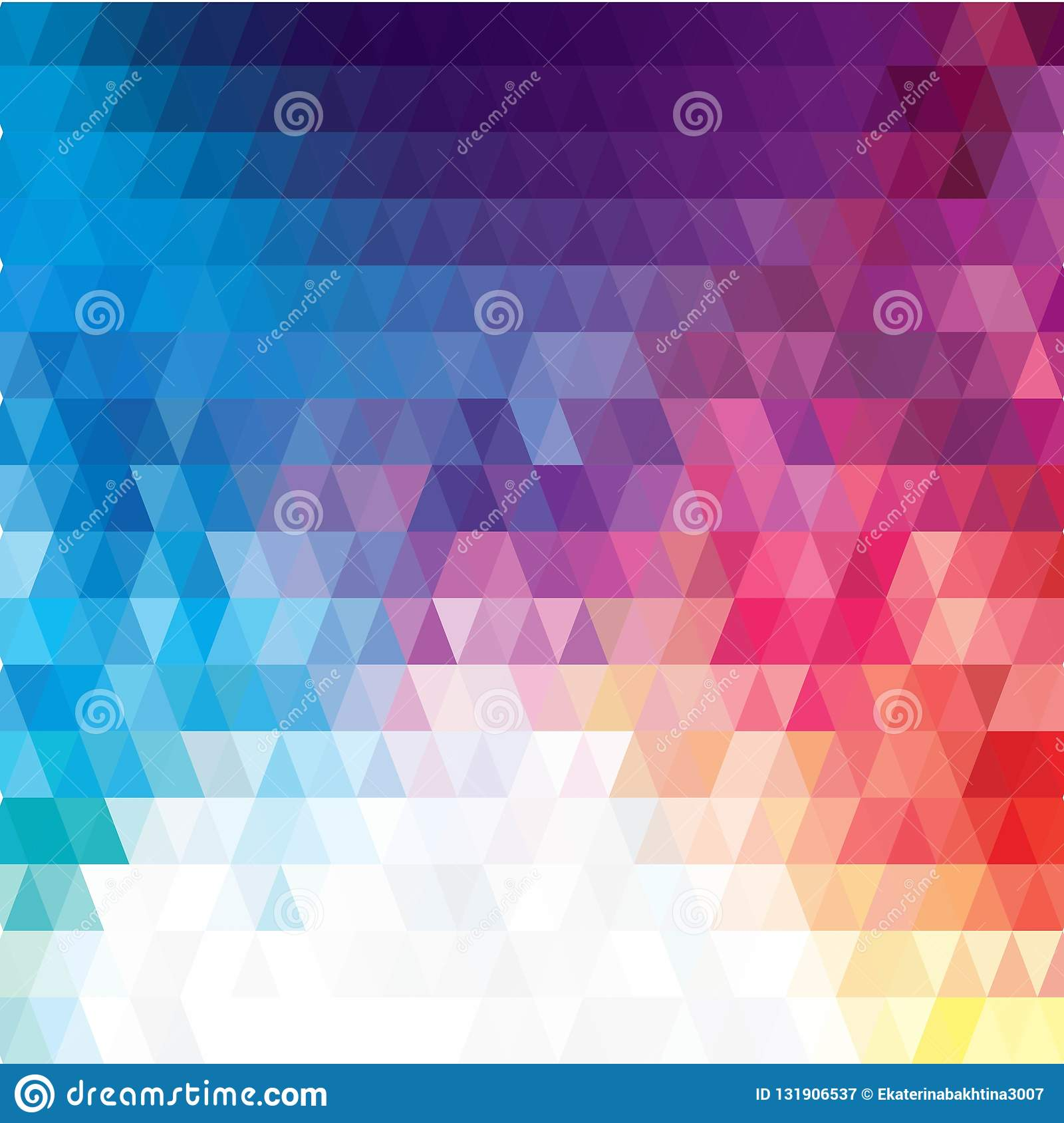 Dirigez le fond irrégulier abstrait de polygone avec un modèle triangulaire dans des couleurs polychromes de spectre d arc-en-cie