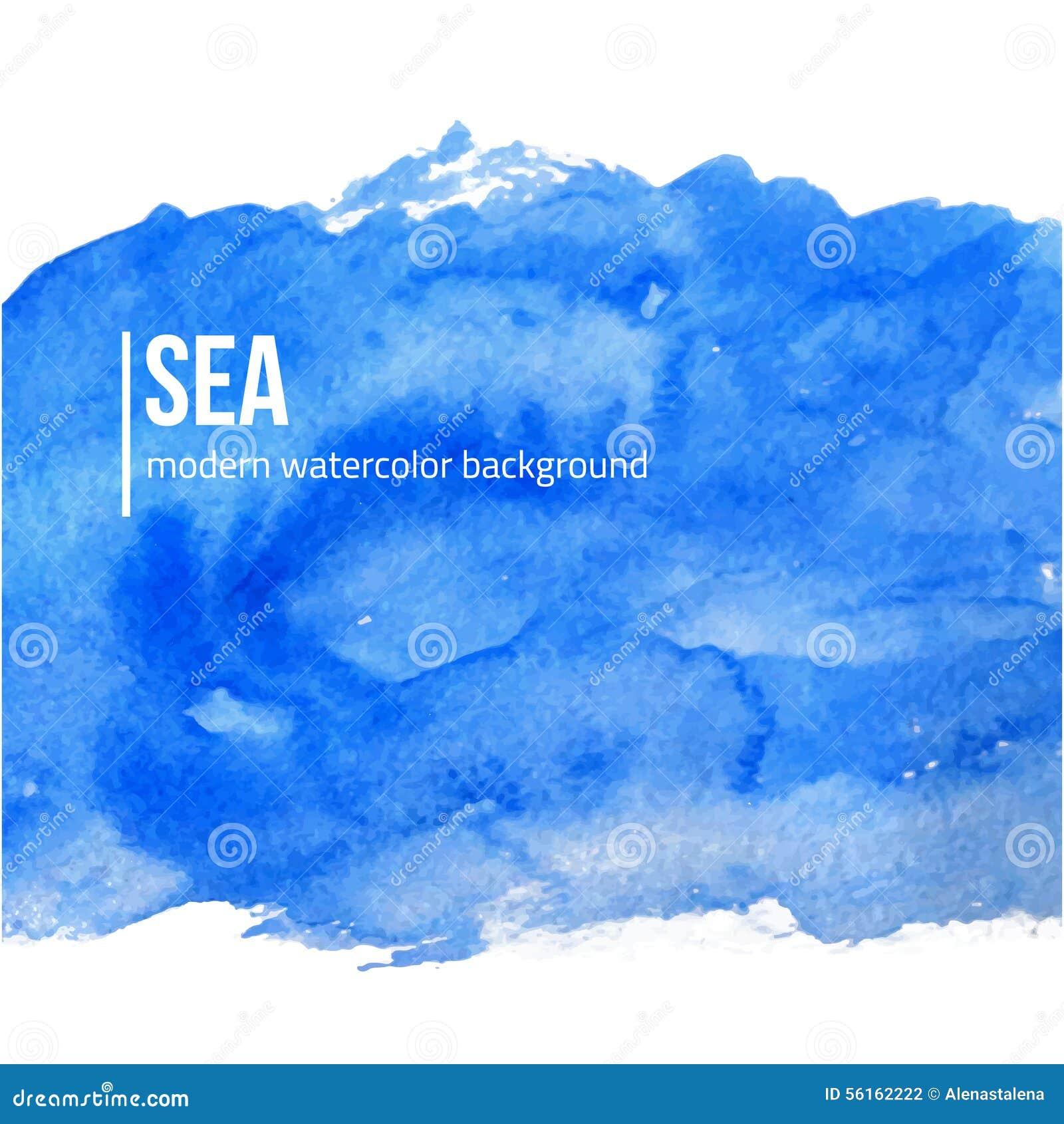 Book Cover Watercolor Brush : Dirigez le fond la mer ou ciel bleue d aquarelle