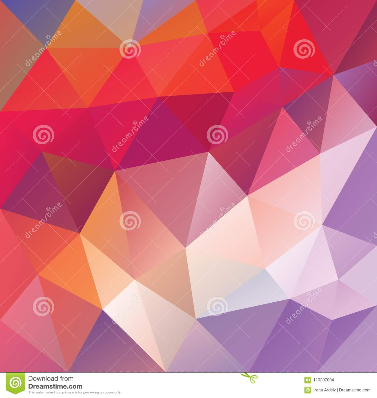 dirigez le fond polygonal irr u00e9gulier - bas poly mod u00e8le de triangle