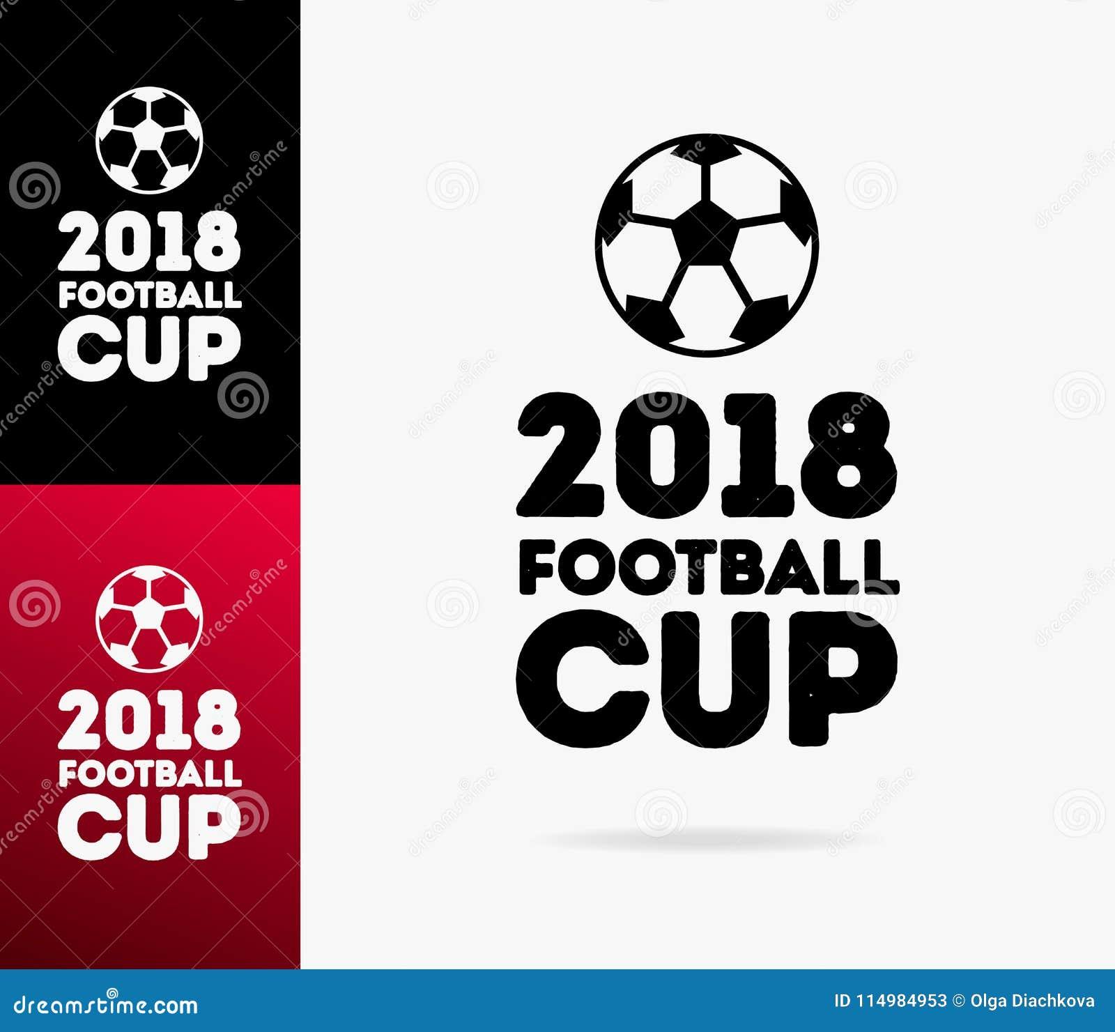 Dirigez le logo 2018 de tasse du football du monde d illustration d isolement sur le fond