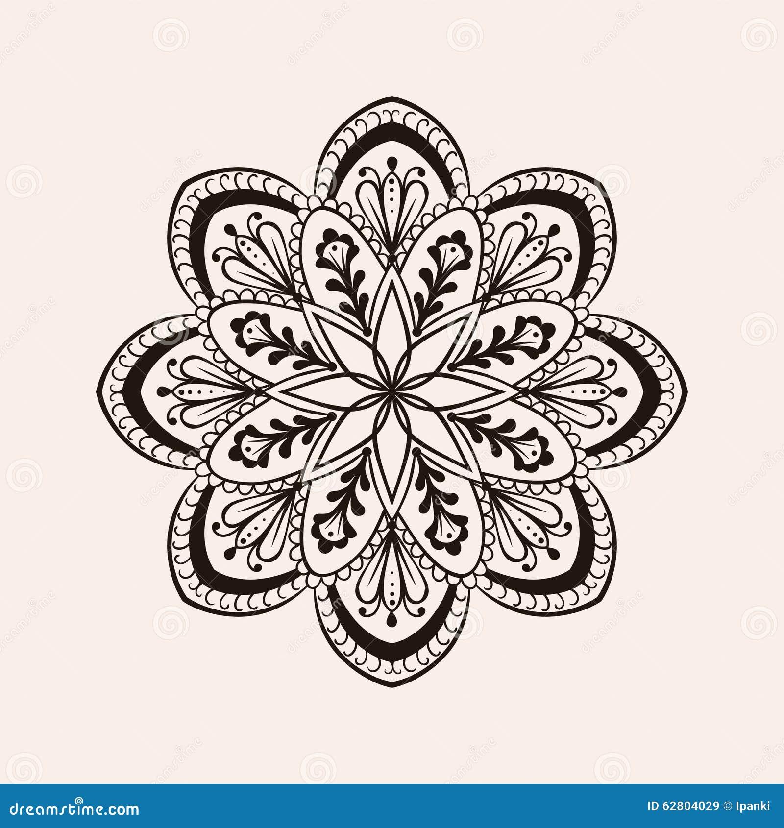 Dirigez Le Mandala Ethnique De Henn Conception