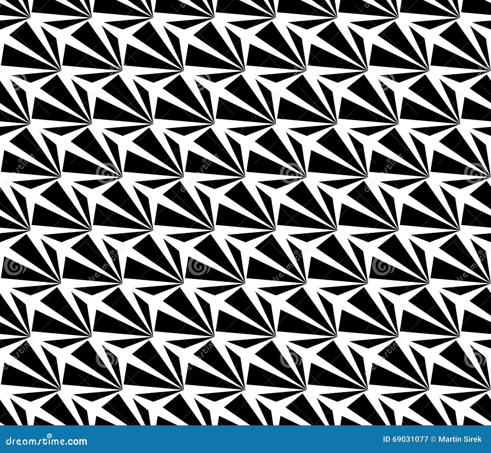Dirigez le modèle sans couture moderne de la géométrie étrange, résumé noir et blanc