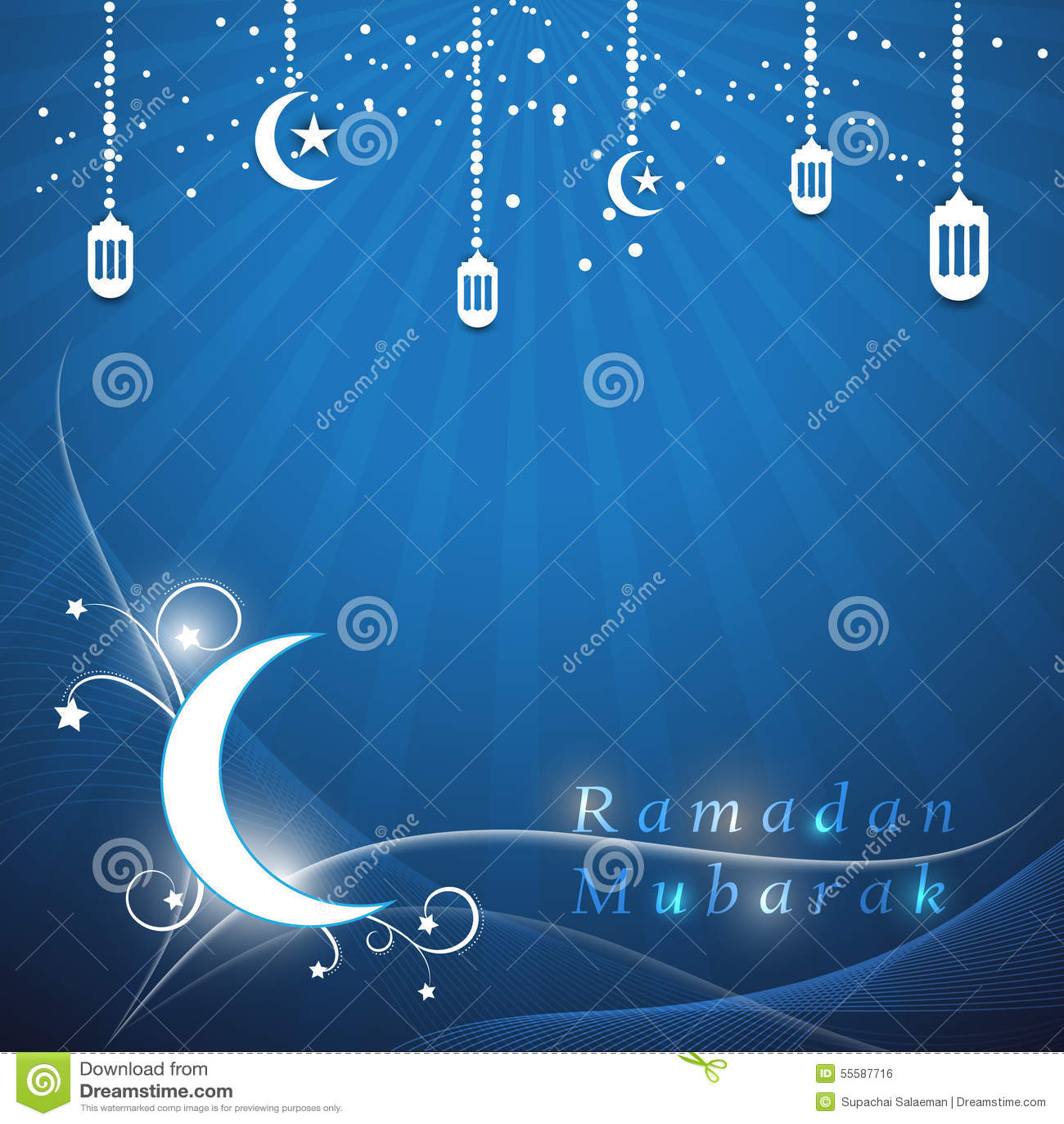 Dirigez le mois saint de Ramadan Mubarak du fond musulman