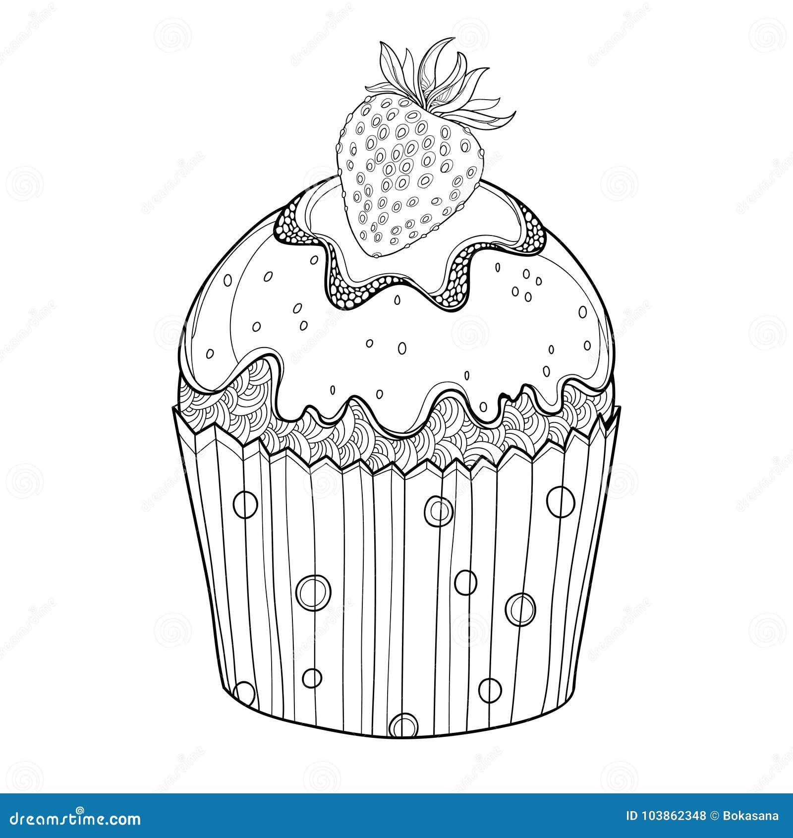 Dirigez Le Petit Gâteau Densemble Avec La Baie Mûre De