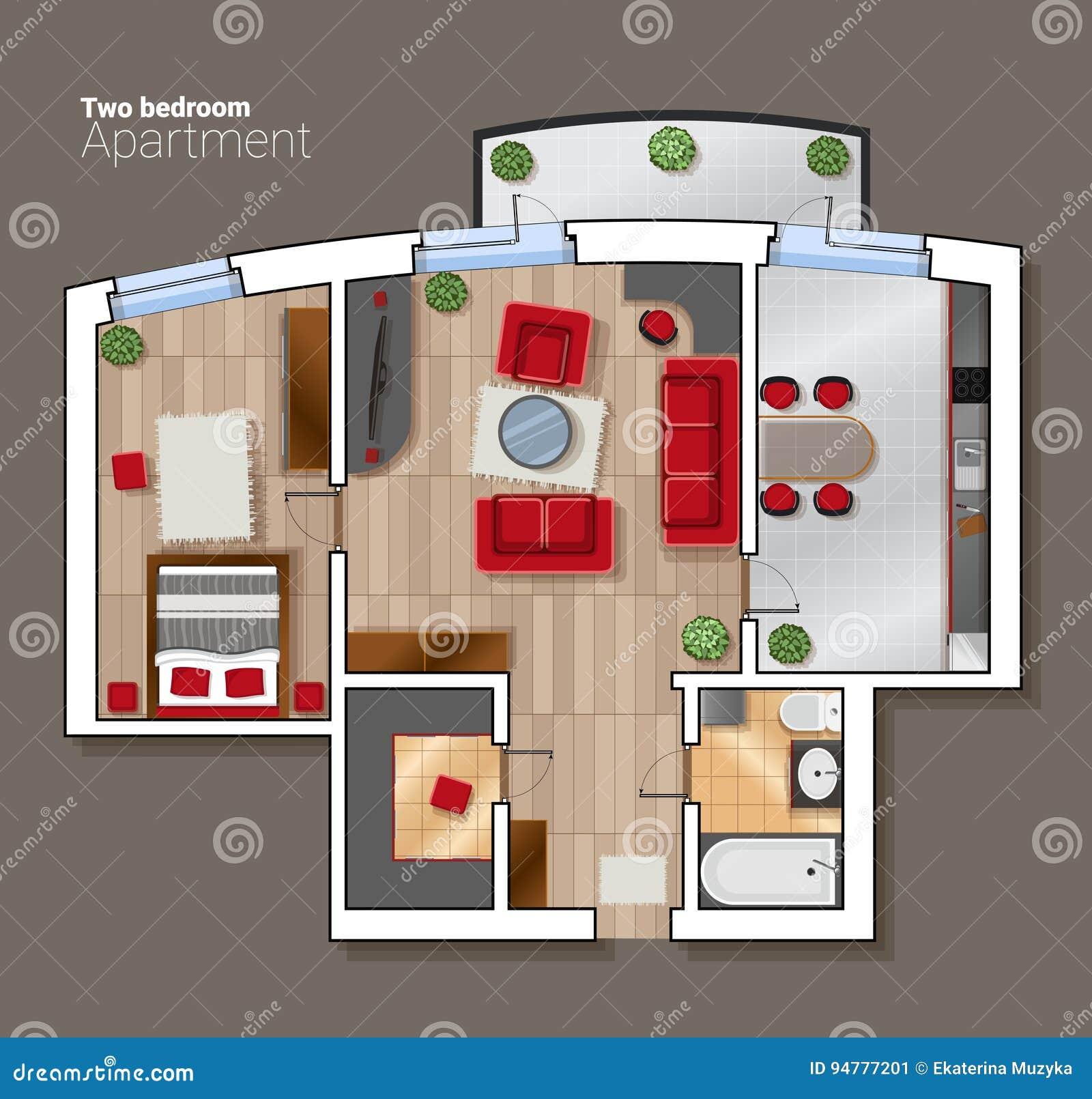 Dirigez Le Plan D Etage De Vue Superieure De La Salle De Maison