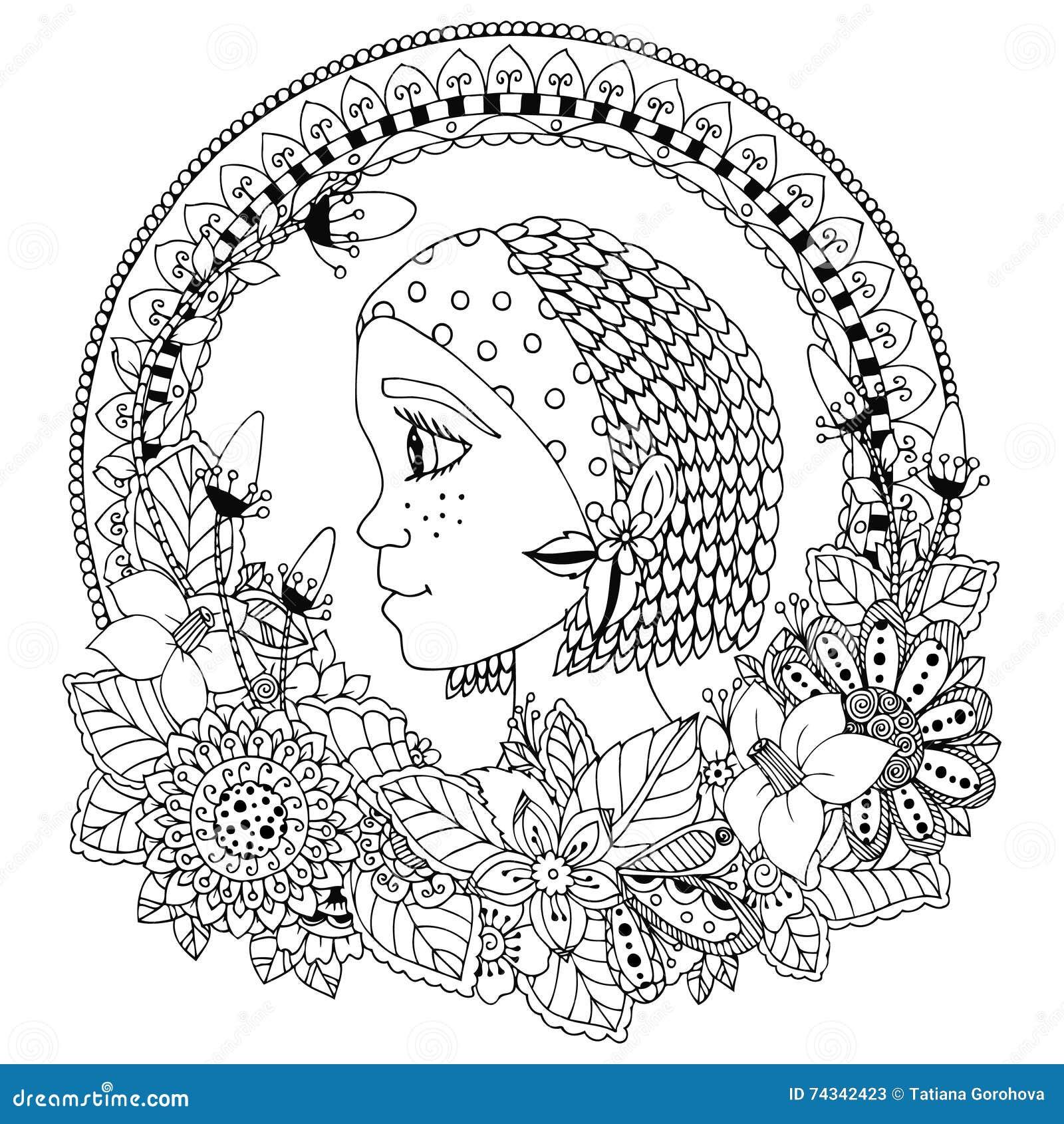 Dirigez Le Portrait D Illustration D Une Femme Dans Le Cadre De