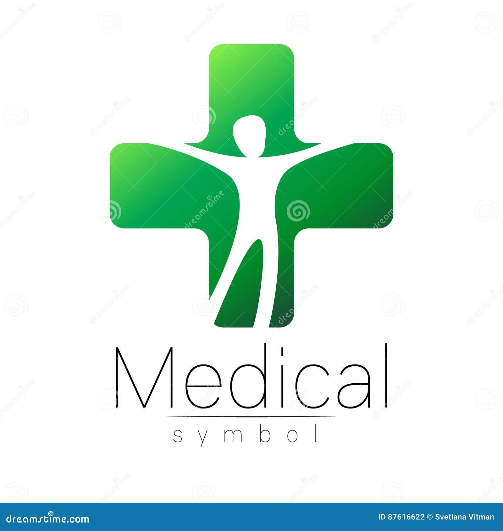 Dirigez Le Signe Mdical Avec La Croix Intrieur Humain Symbole Pour Des Mdecins Site Web Carte De Visite Icne Couleur Verte Conception
