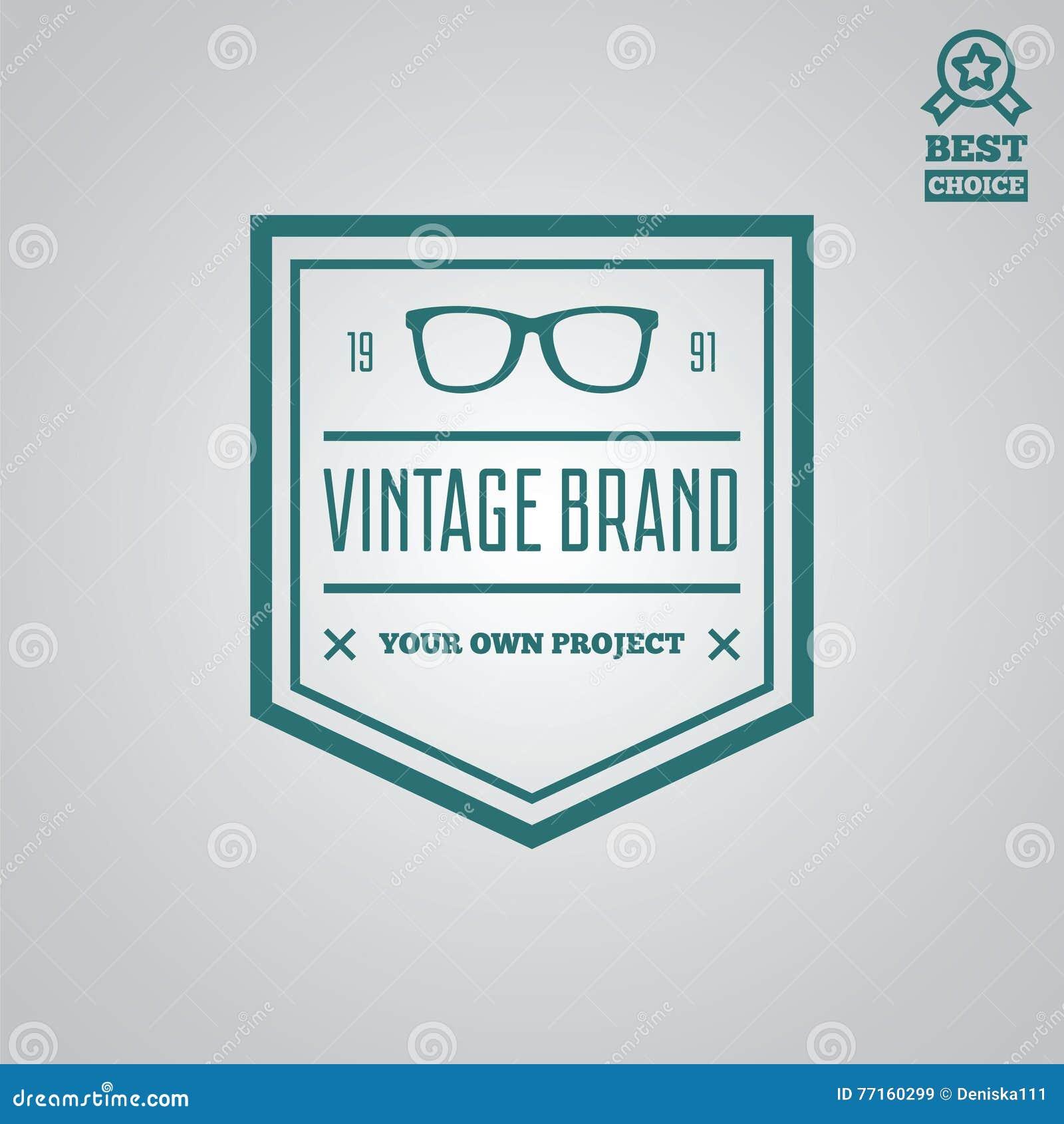 Dirigez le style de vintage d éléments, de label, d insigne et de silhouette de logotype