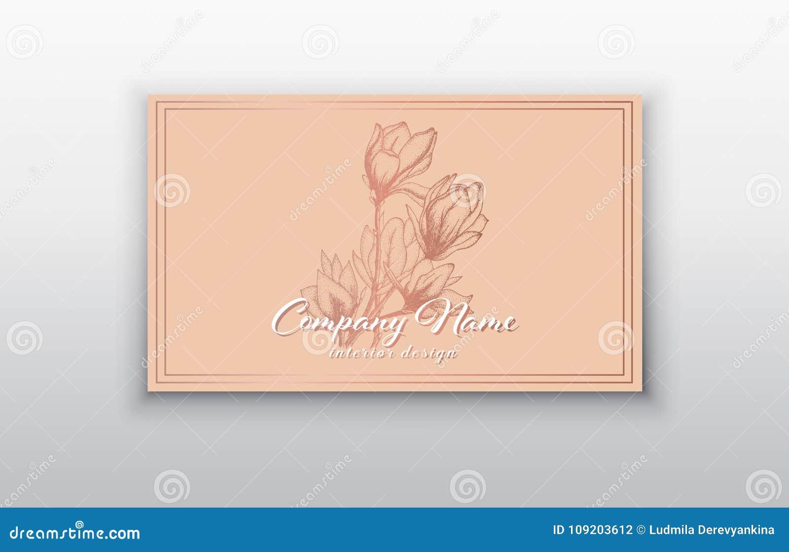 Dirigez Les Calibres De Carte Visite Professionnelle Avec Fleurs Roses D Or