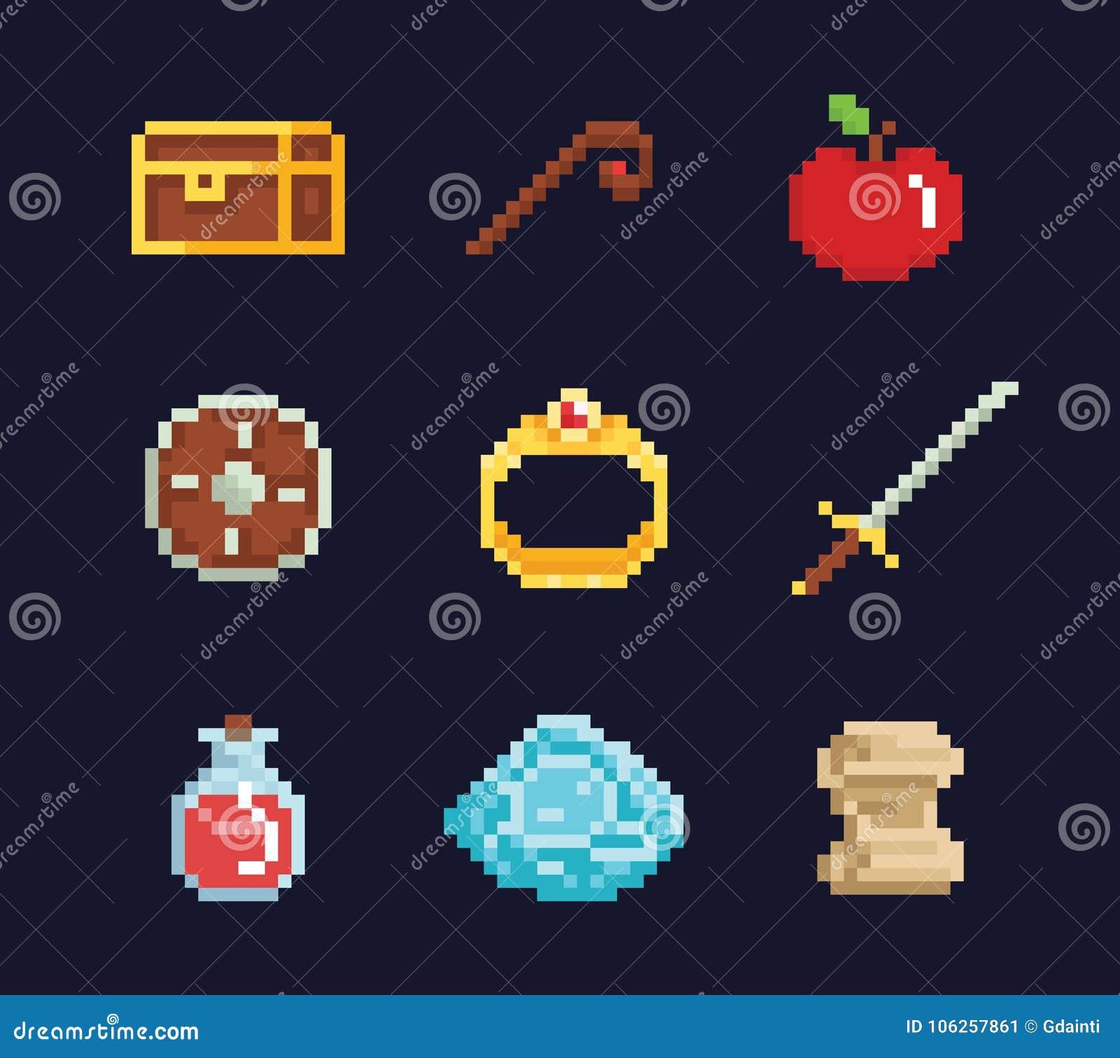 Dirigez Les Isons Dillustration Dart De Pixel Pour Le