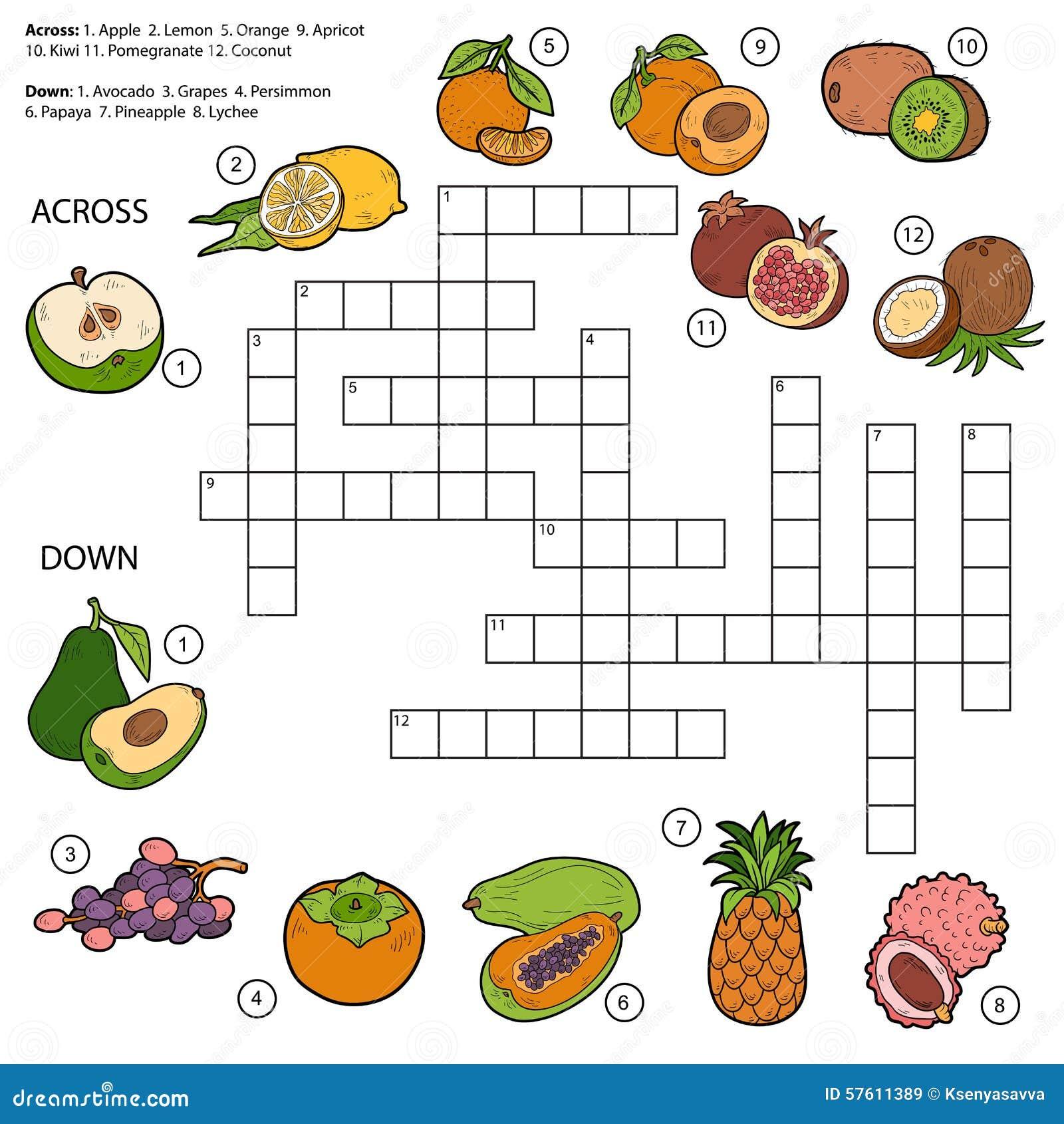 Dirigez les mots crois jeu pour des enfants au sujet des for Vegetal en anglais