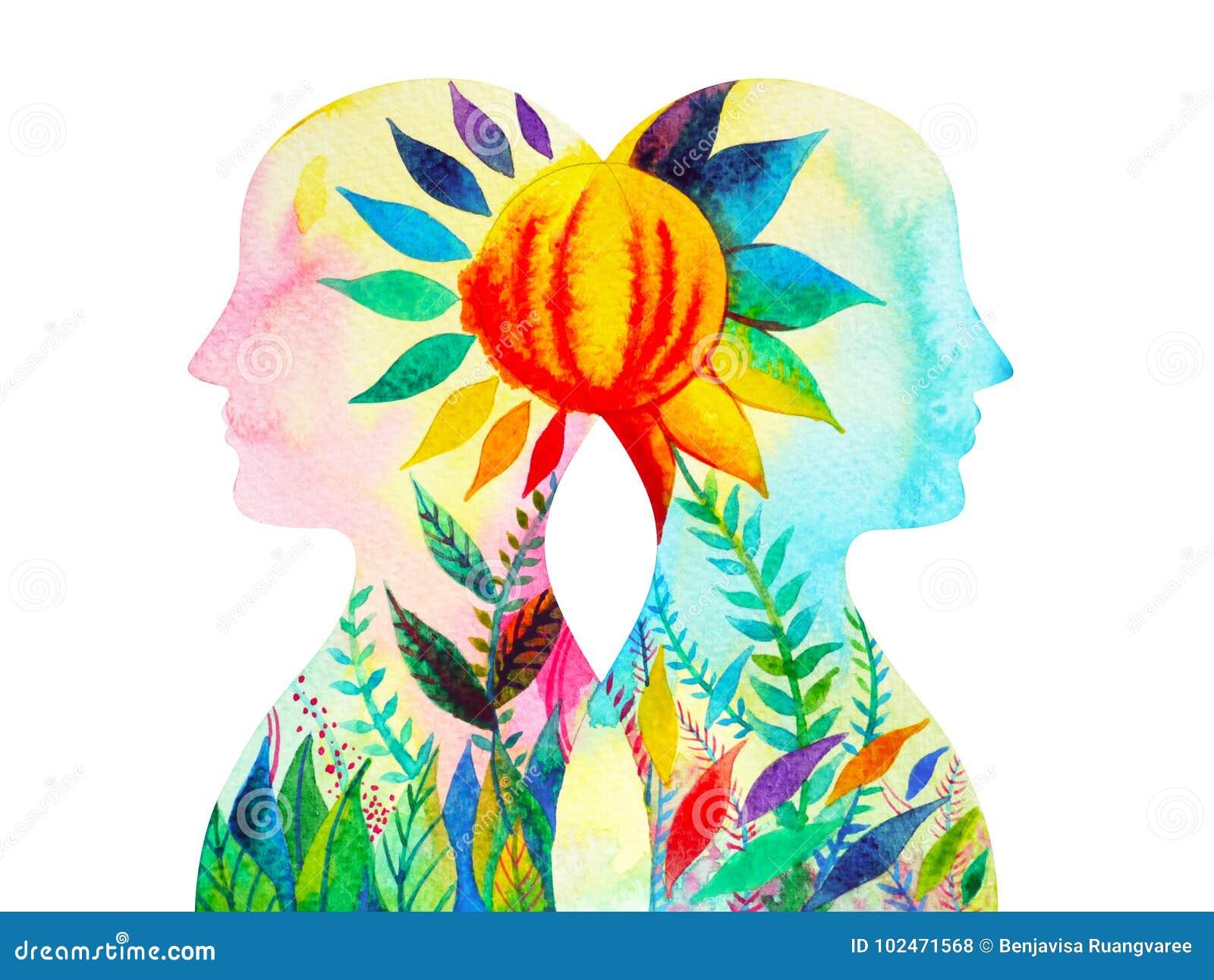 Dirigez, puissance de chakra, fleurissez la pensée abstraite florale ensemble