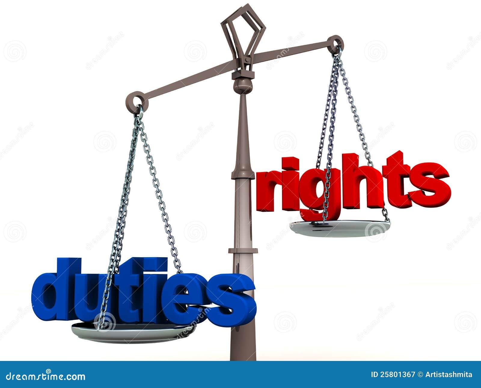 Diritti ed equilibrio di funzioni