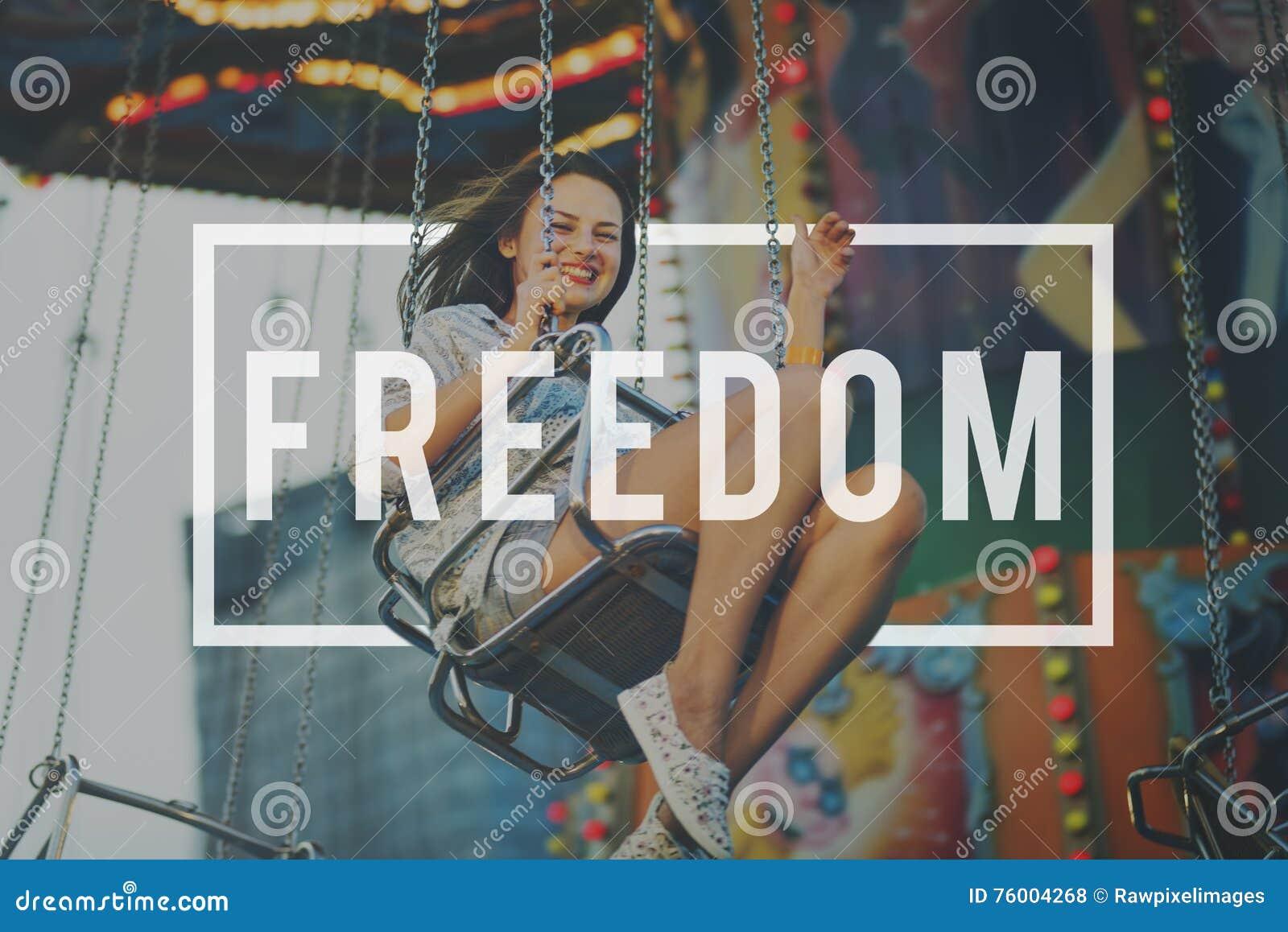 Diritti umani emancipati Liberty Concept di libertà