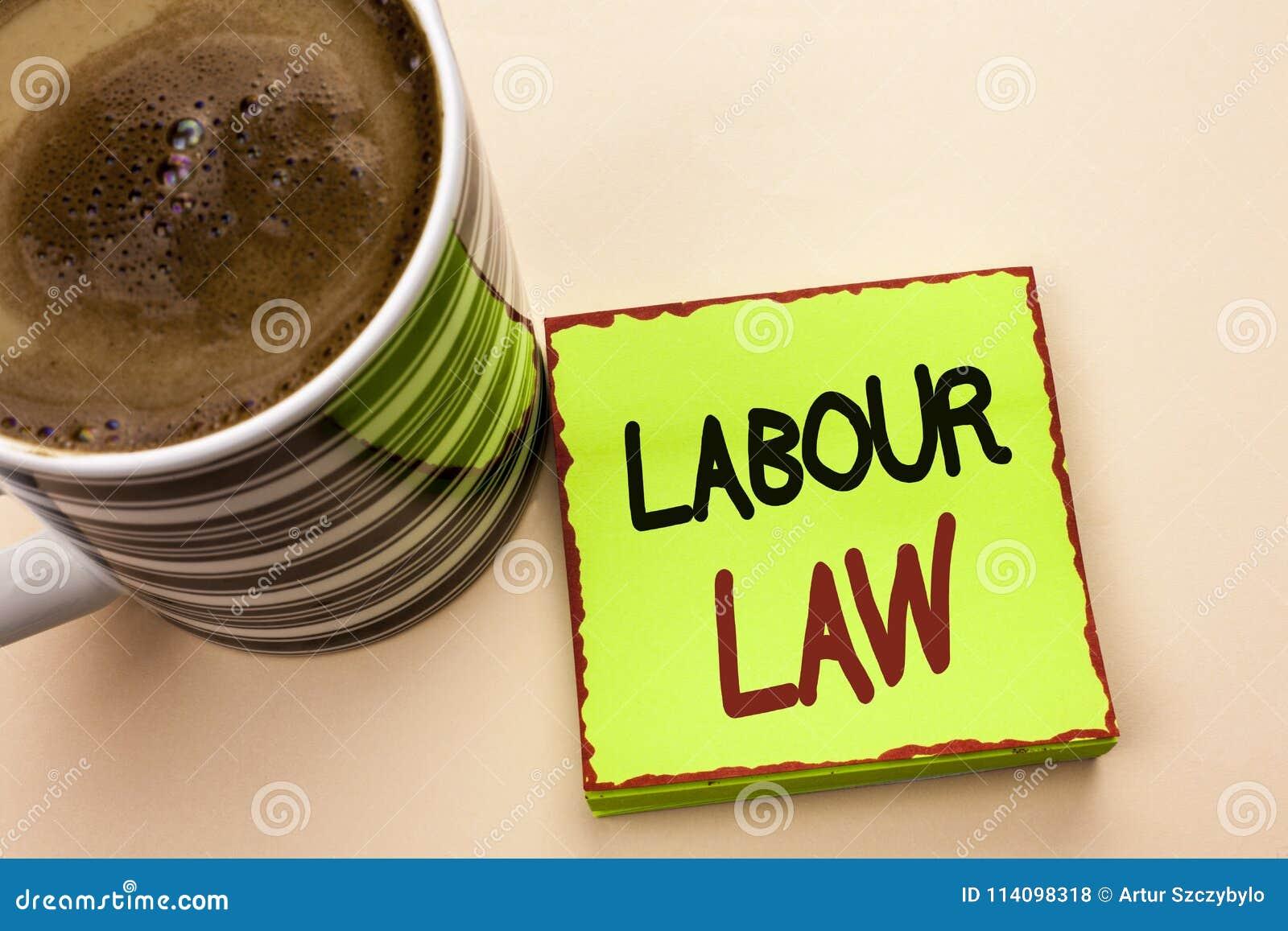 Diritto del lavoro del testo di scrittura di parola Il concetto di affari per occupazione governa l unione della legislazione di