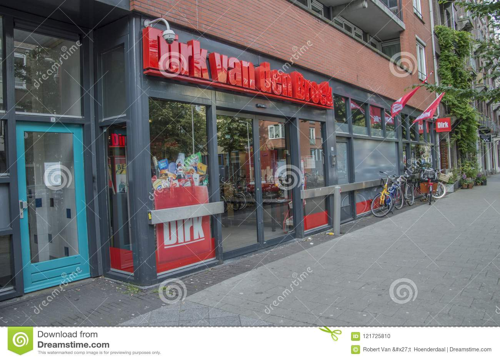 Dirk Supermarket At Amsterdam The Nederland