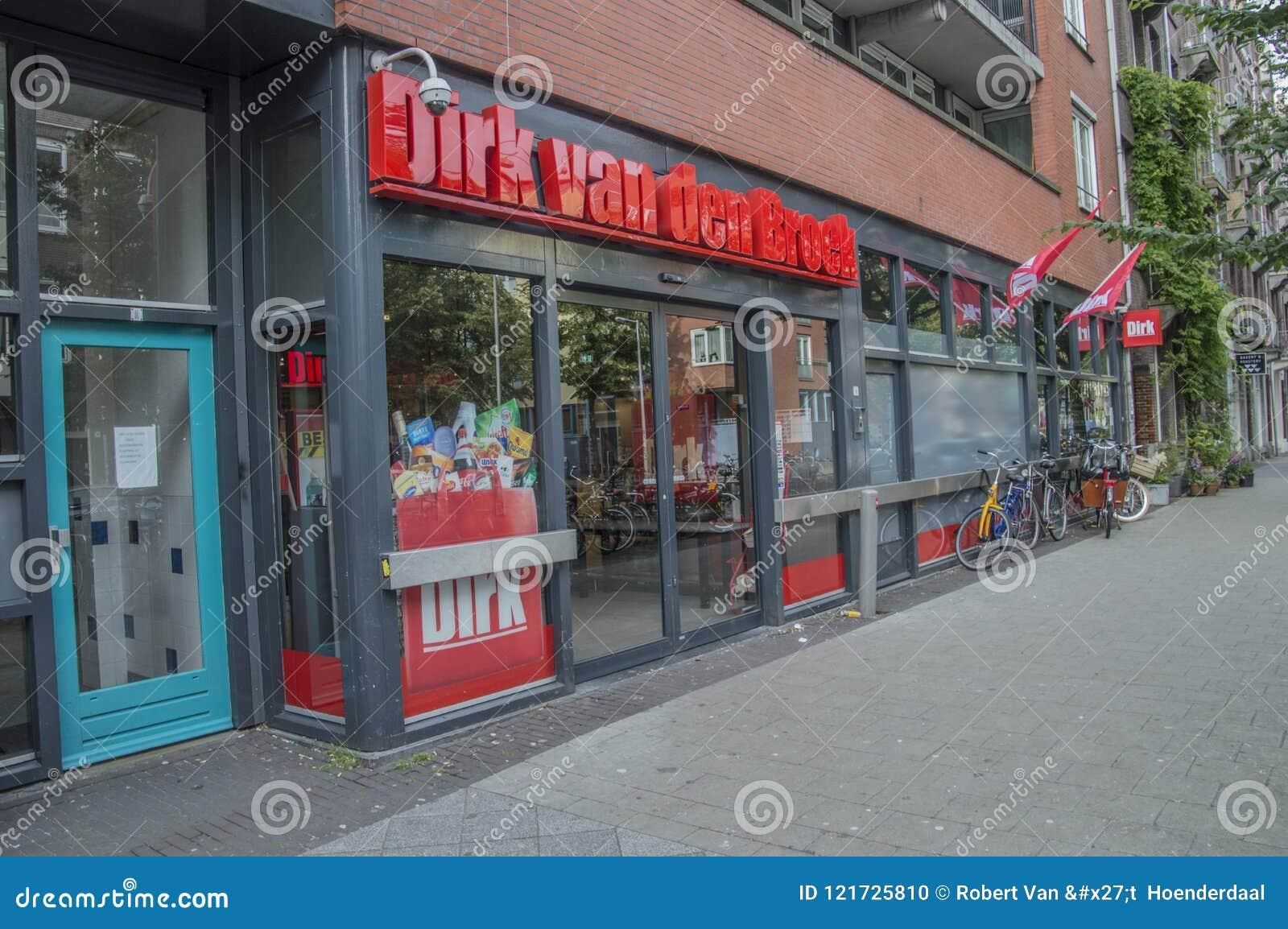 Dirk supermarket Przy Amsterdam holandie