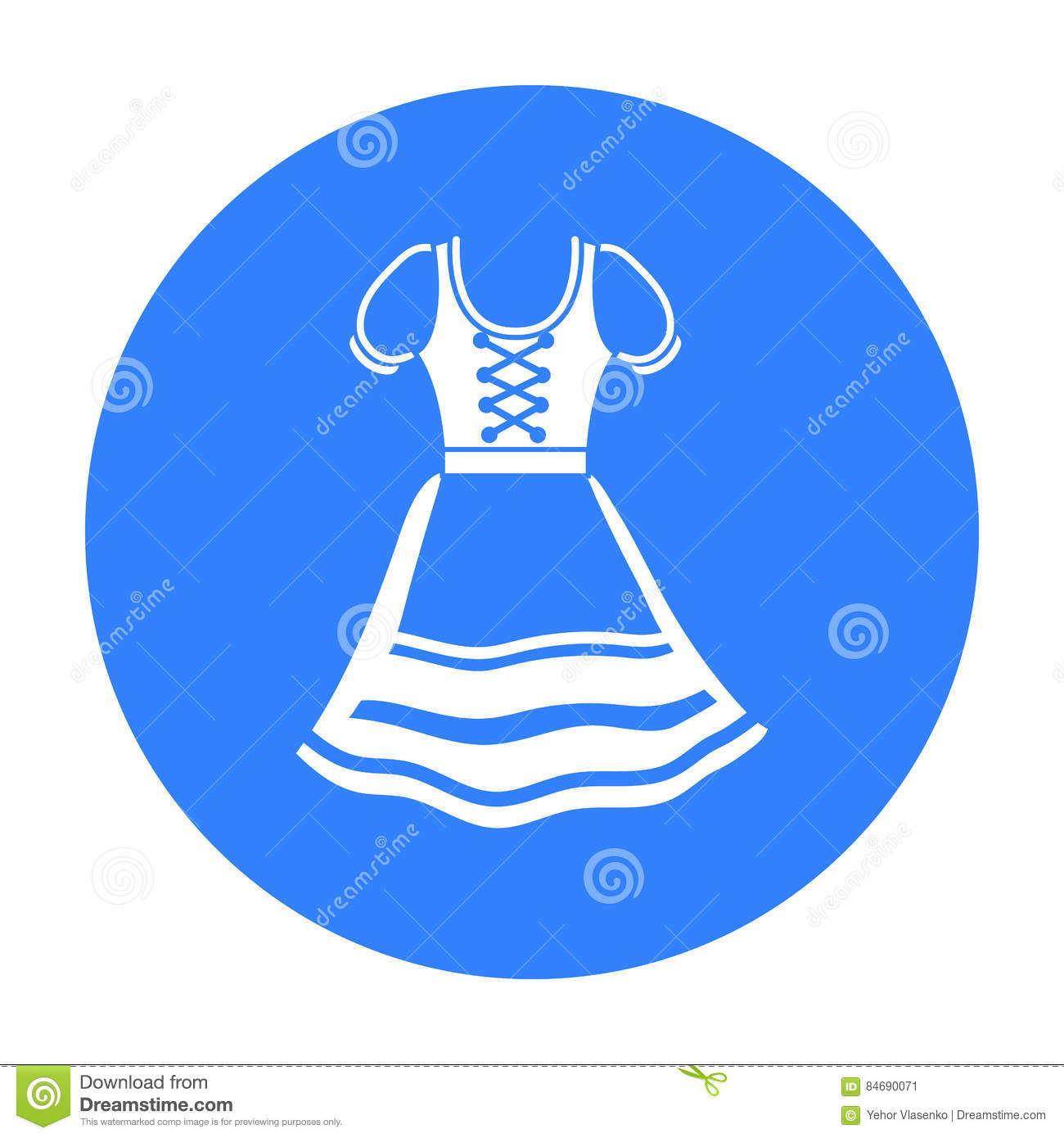dirndl icon in black style isolated on white background