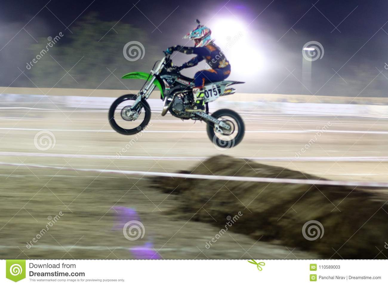 The Dirt bike racer India  editorial stock photo  Image of first