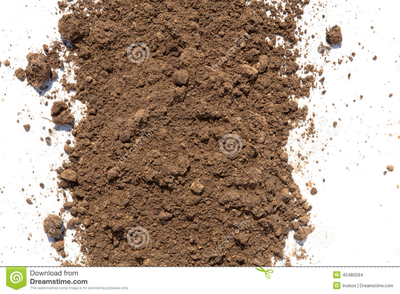 Dirt and soil on white background stock photo image for Dirt and soil