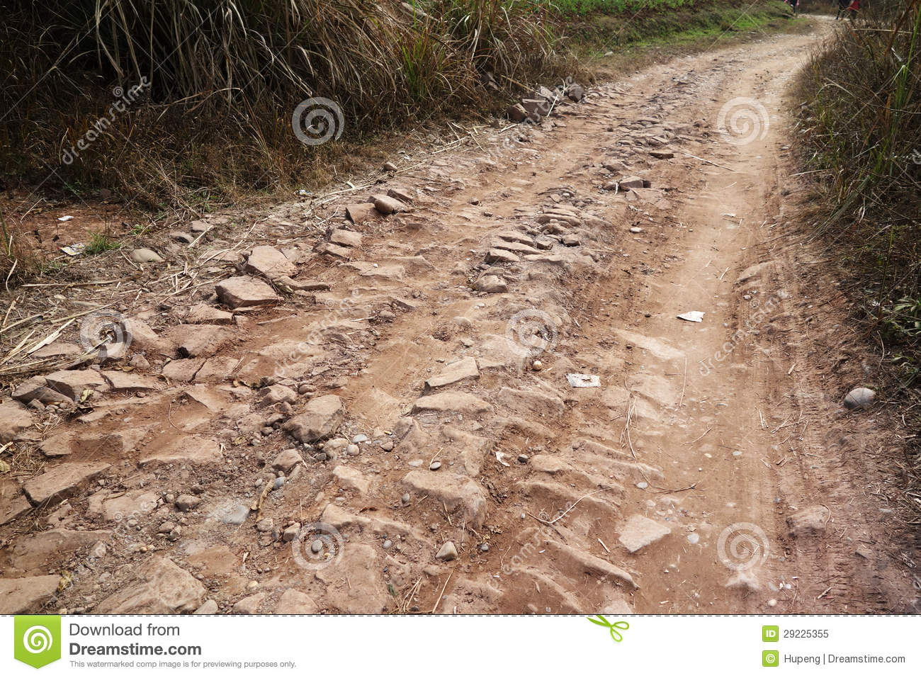 Dirt And Stone : Dirt and stone road royalty free stock photo image