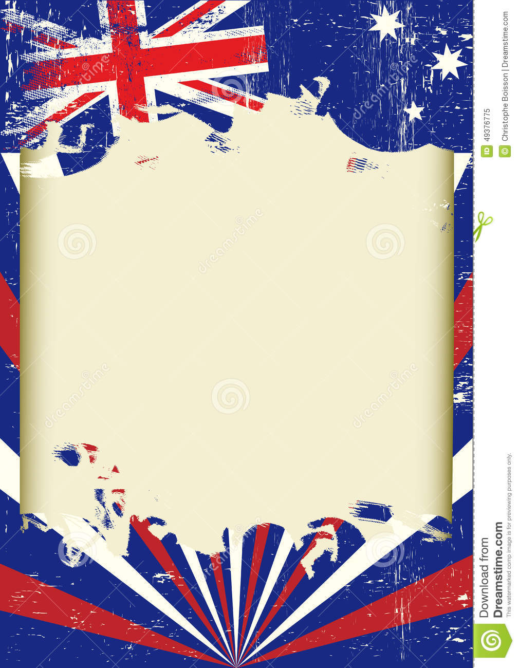 Dirty Australian Flag Stock Vector Image Of Celebration