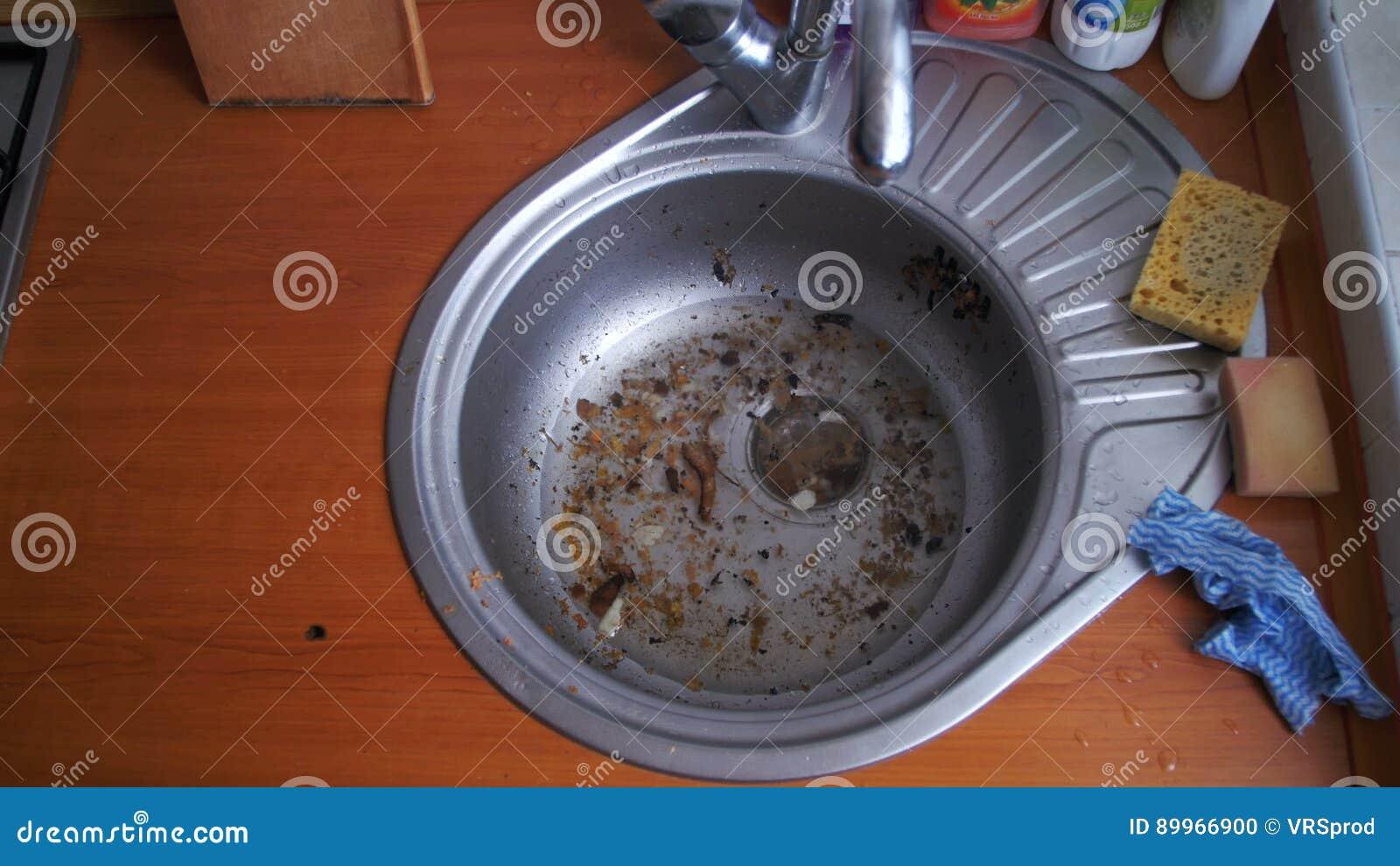 Dirty Clogged Washbasin Sink Stock Footage - Video of drain, plug ...