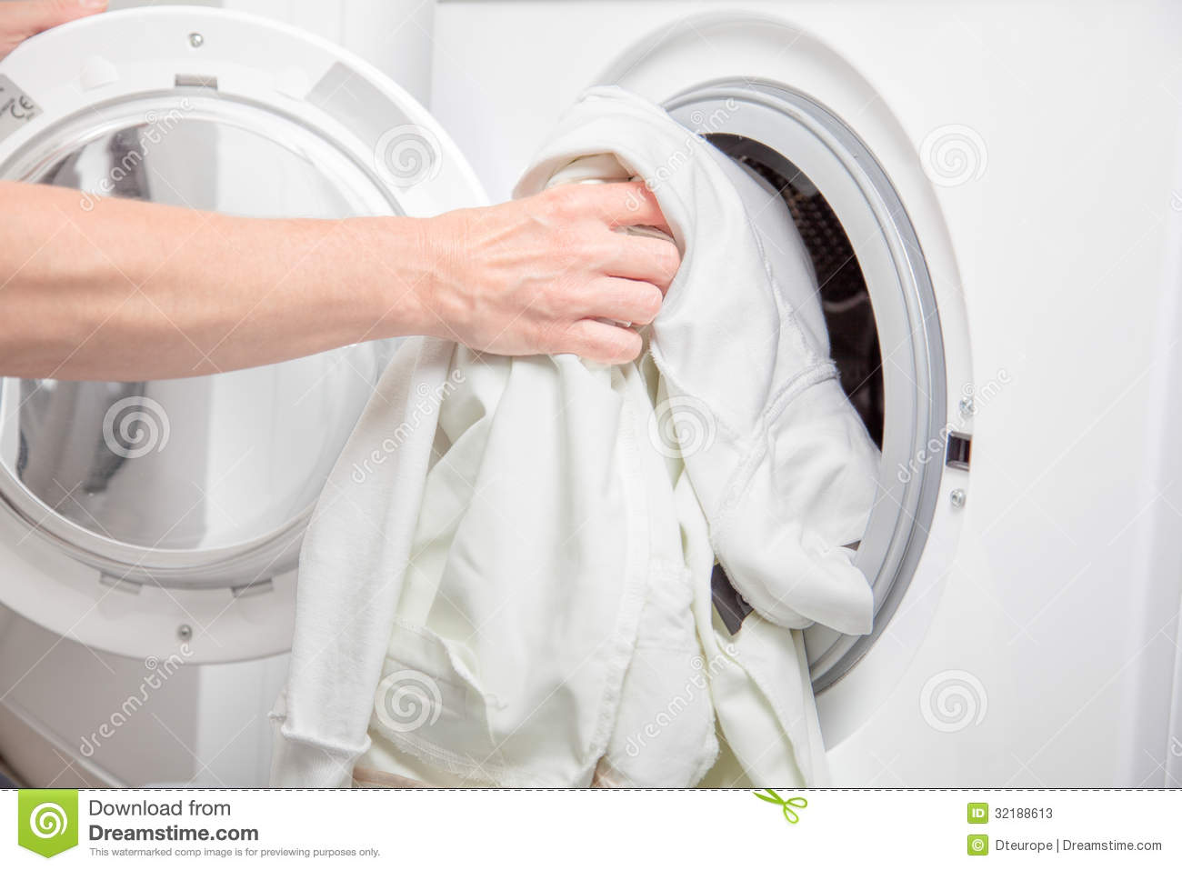 Clothes Washing Machine ~ Dirty clothes stock image of house housework