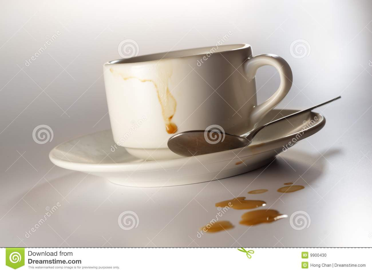 Dirty Coffee Cup Stock Photo Image 9900430