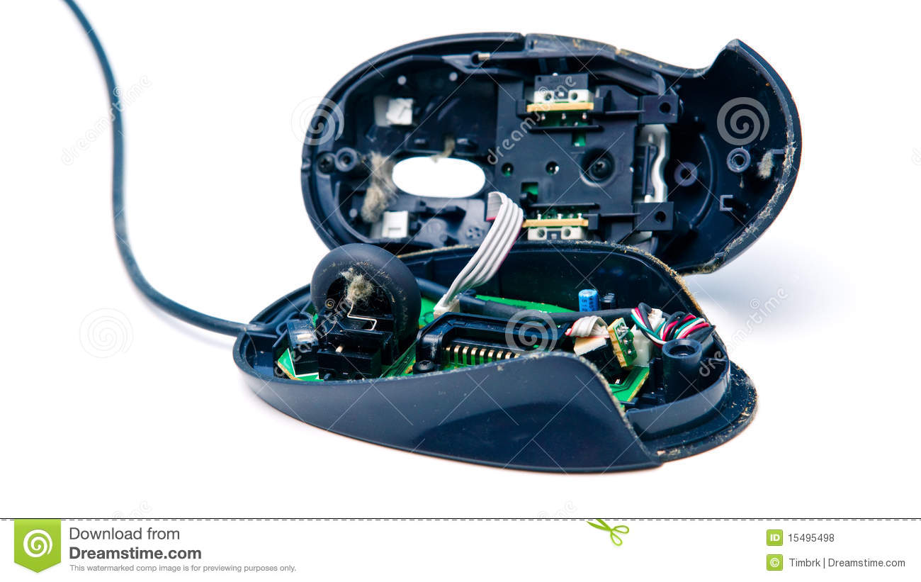 Dirty Computer Mouse Royalty Free Stock Photos - Image: 15495498
