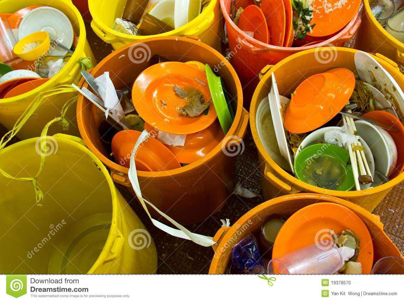 Dirty Dishes And Bowls Stock Photo Image 19378570