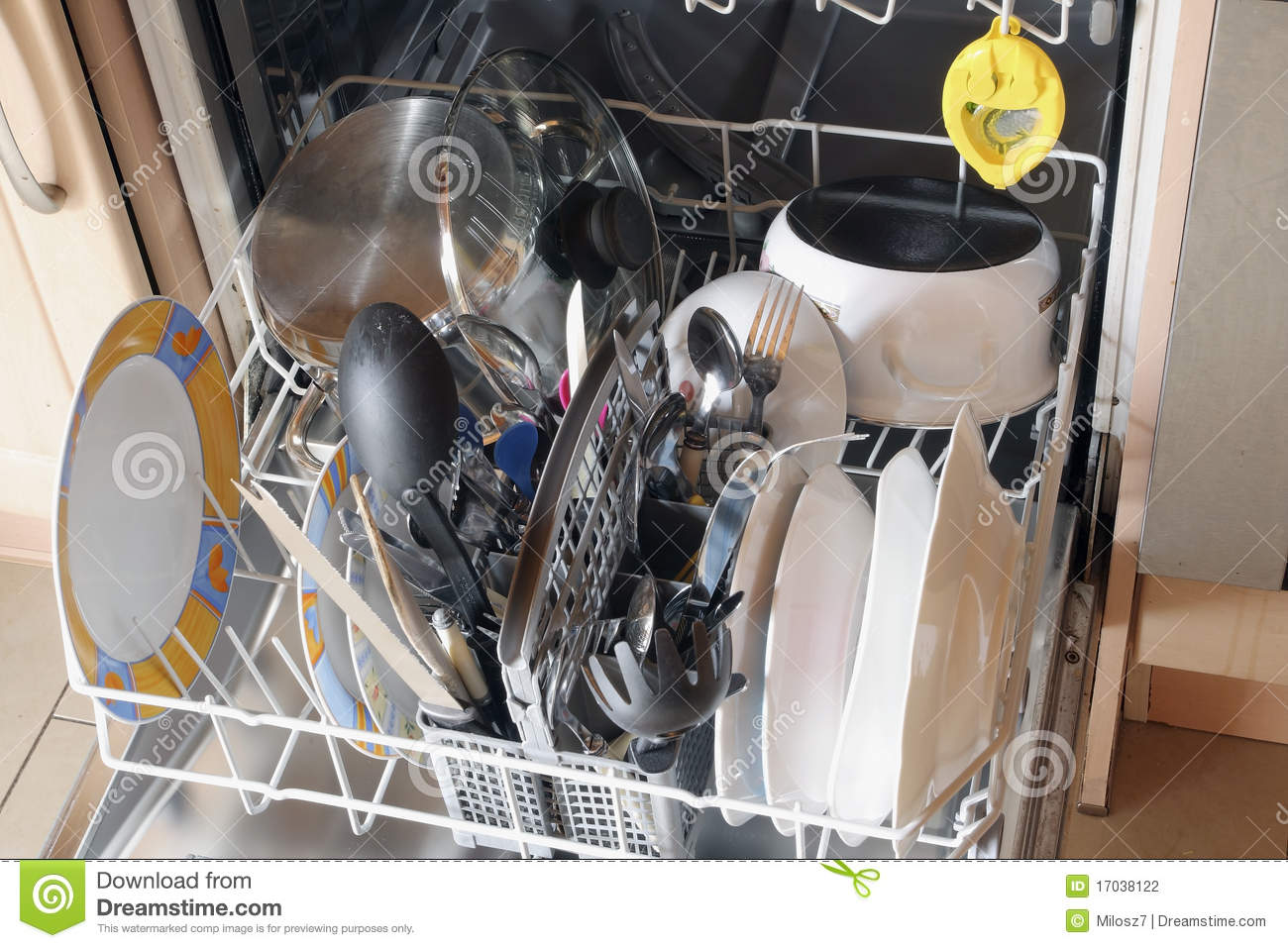 Dirty Dishes In Dishwasher Stock Photography - Image: 17038122