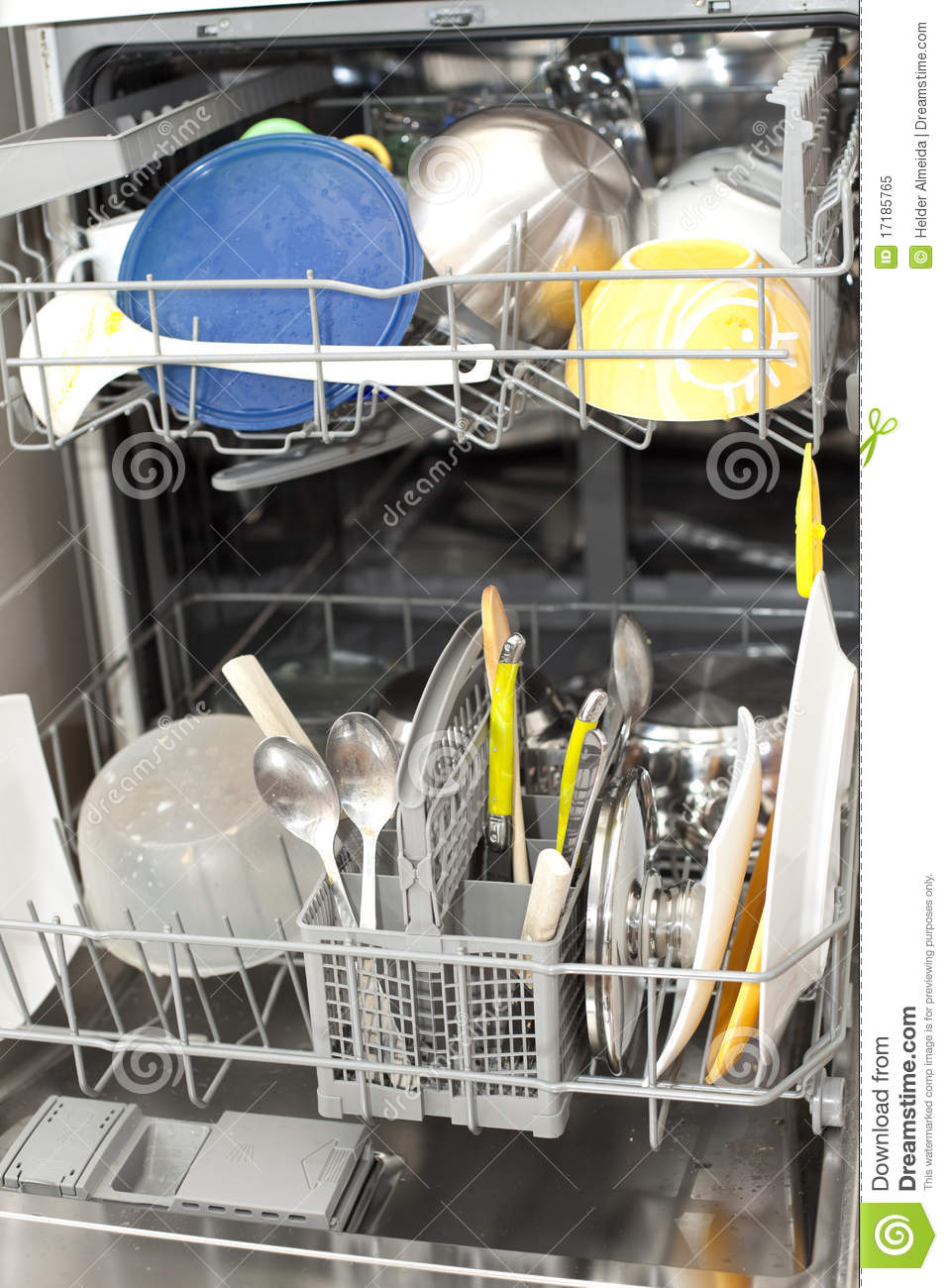 Dirty Dishes In The Dishwasher Stock Image - Image: 17185765