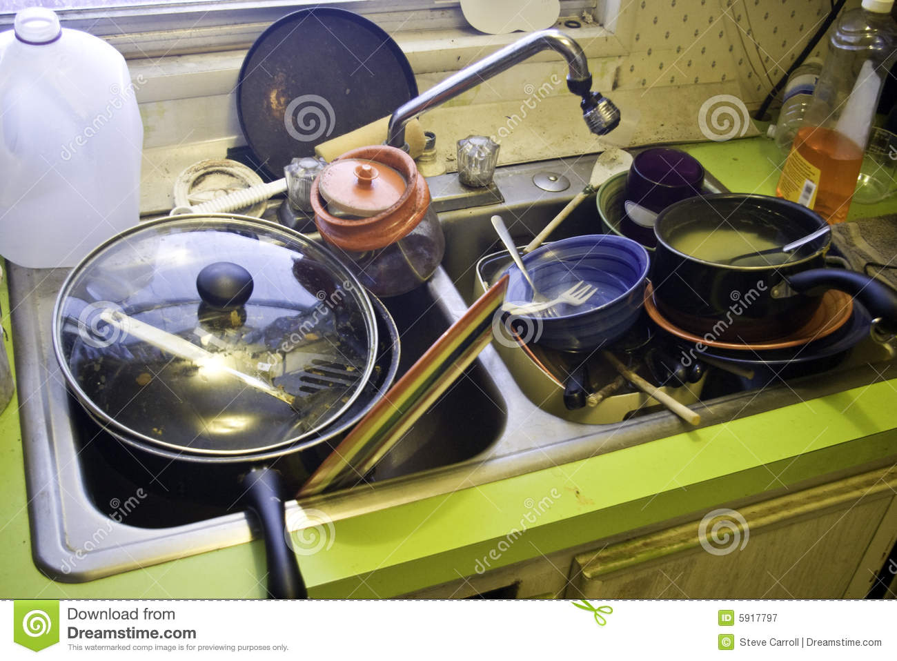 Kitchen Sink With Dishes brilliant kitchen sink with dishes in washingup bowl and drying