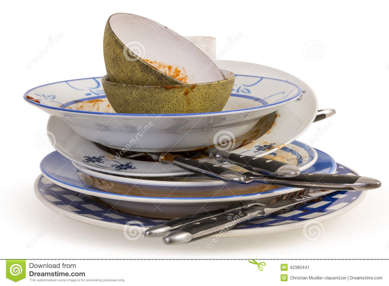 dirty dishes stock image image of bowl black leavings. Black Bedroom Furniture Sets. Home Design Ideas