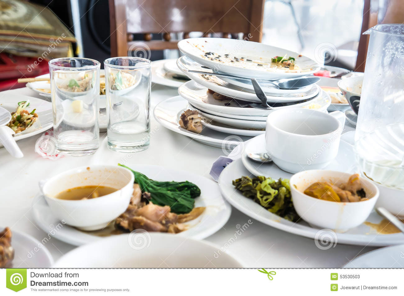Dirty Dishes Stock Photo Image 53530503