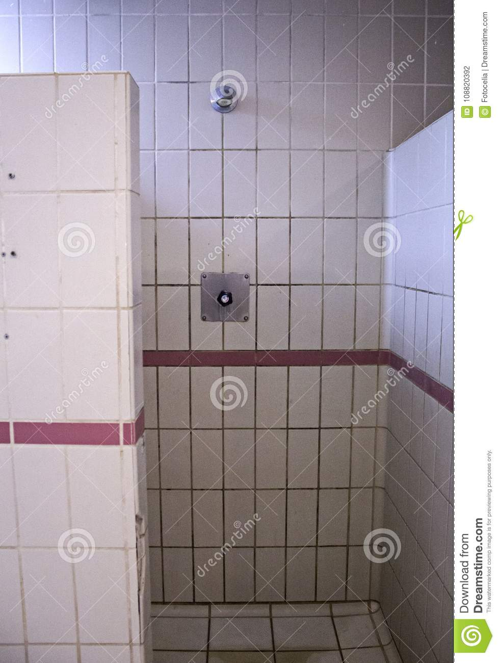 Gym locker room shower stock photo image of protection