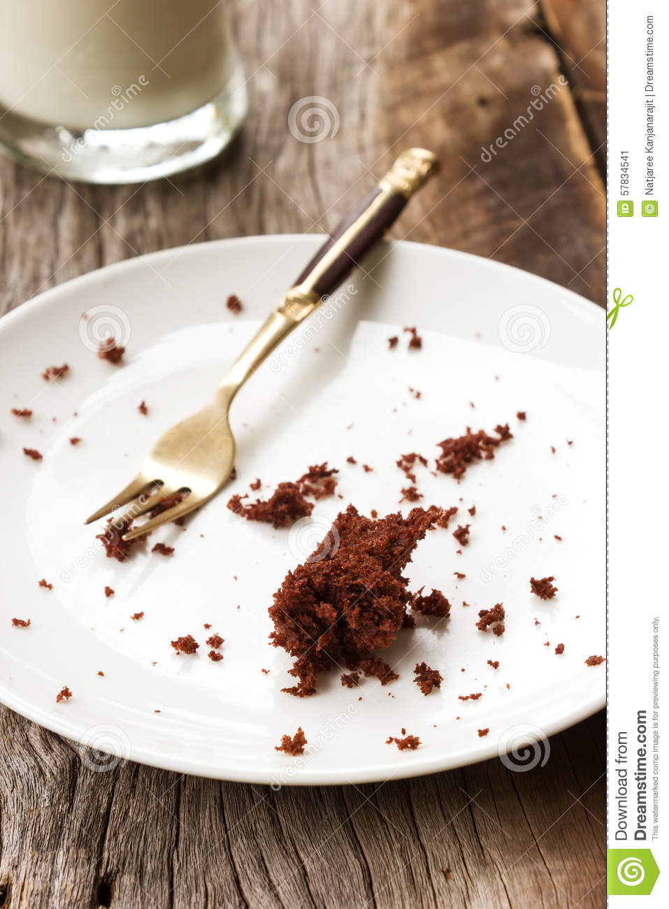 Dirty Empty Plate On Wooden Background Stock Image