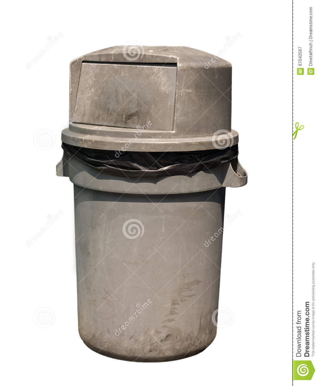 Dirty garbage can stock image. Image of background, isolated - 67042567