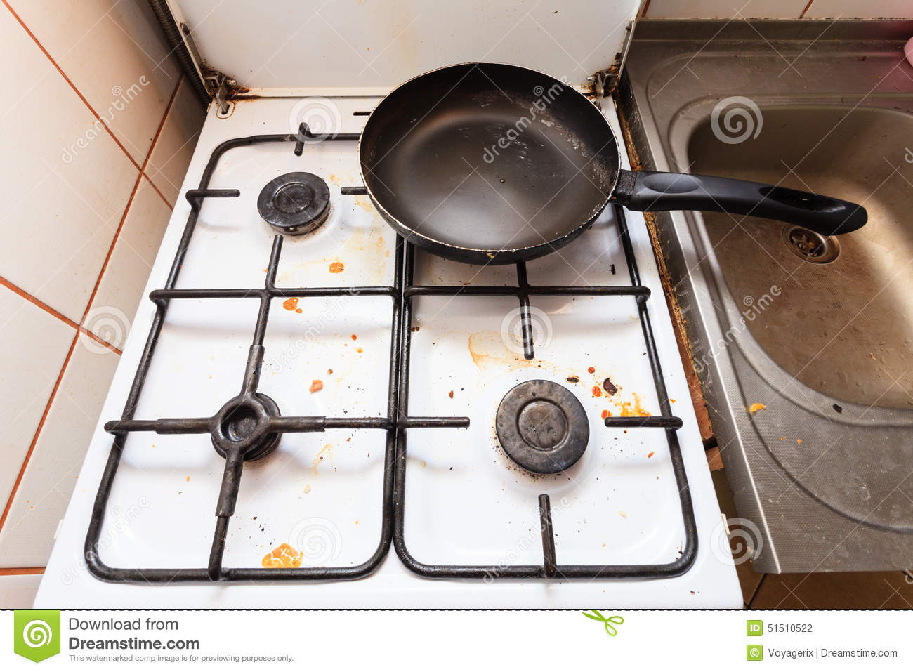 Dirty Kitchen Stove Royalty Free Stock Photos - Image: 29441058