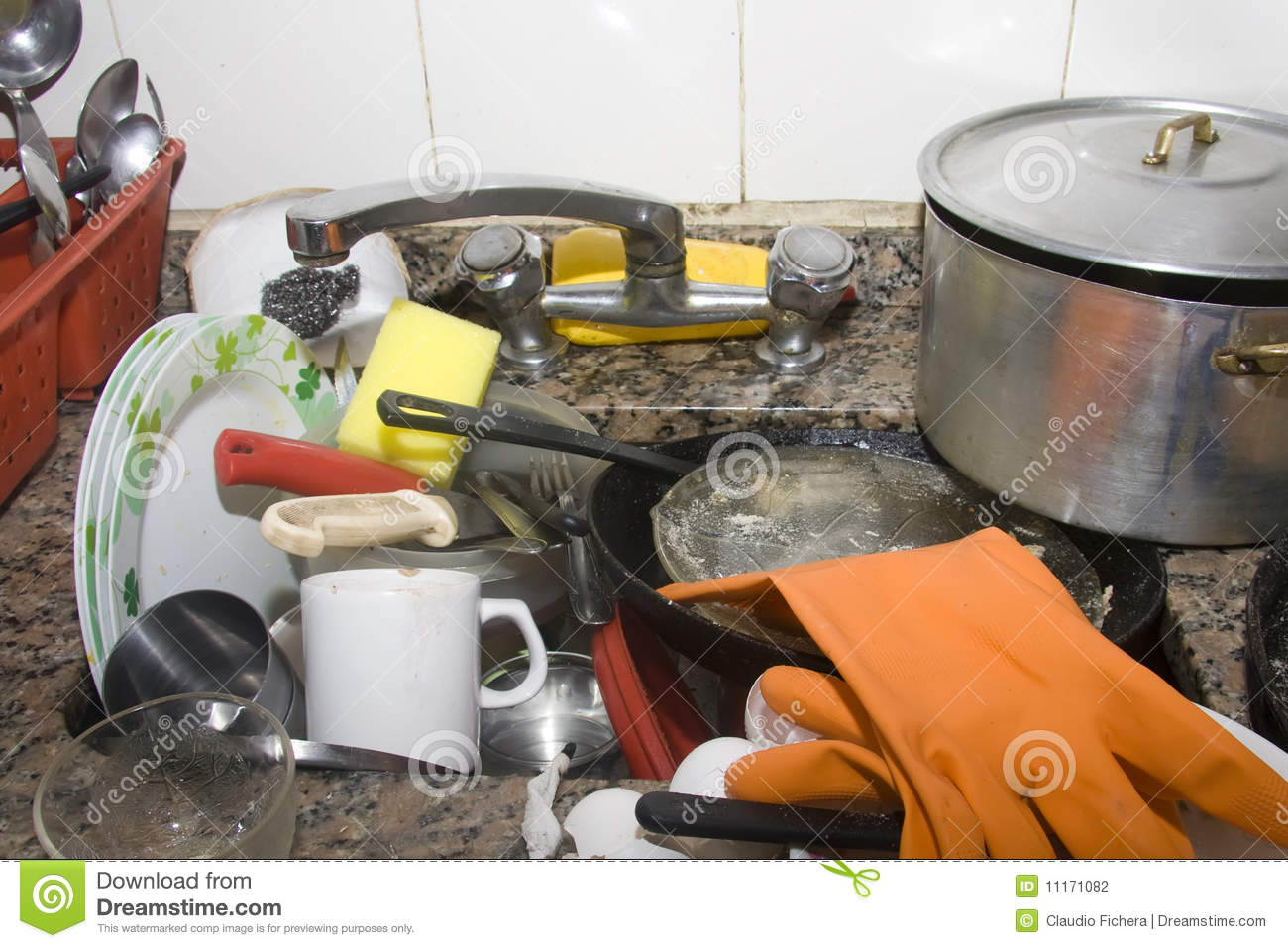 Dirty Kitchen Sink Stock Photography - Image: 11171082