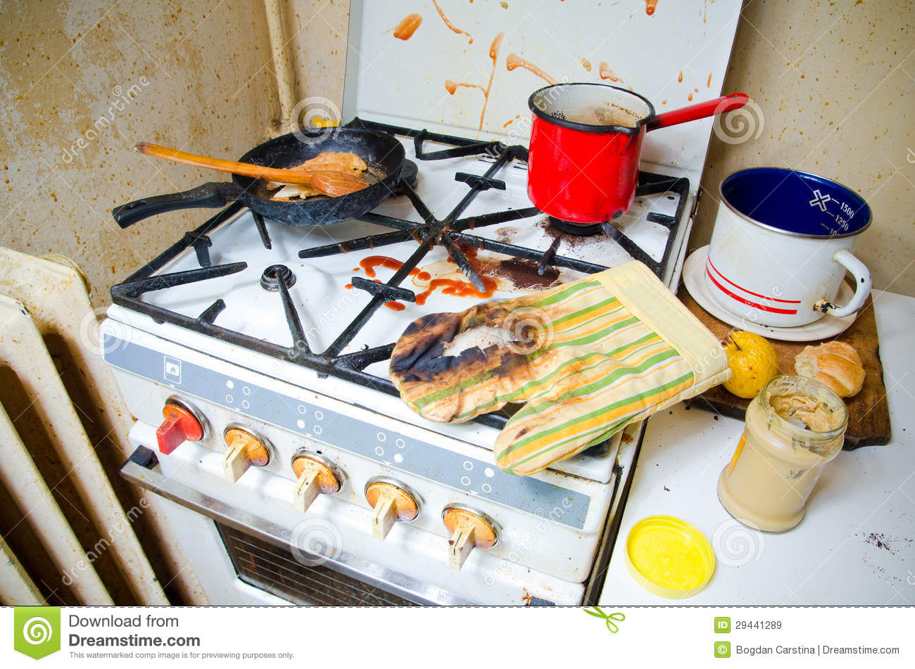 Dirty Kitchen Stove Stock Photos, Images, & Pictures - 922 Images