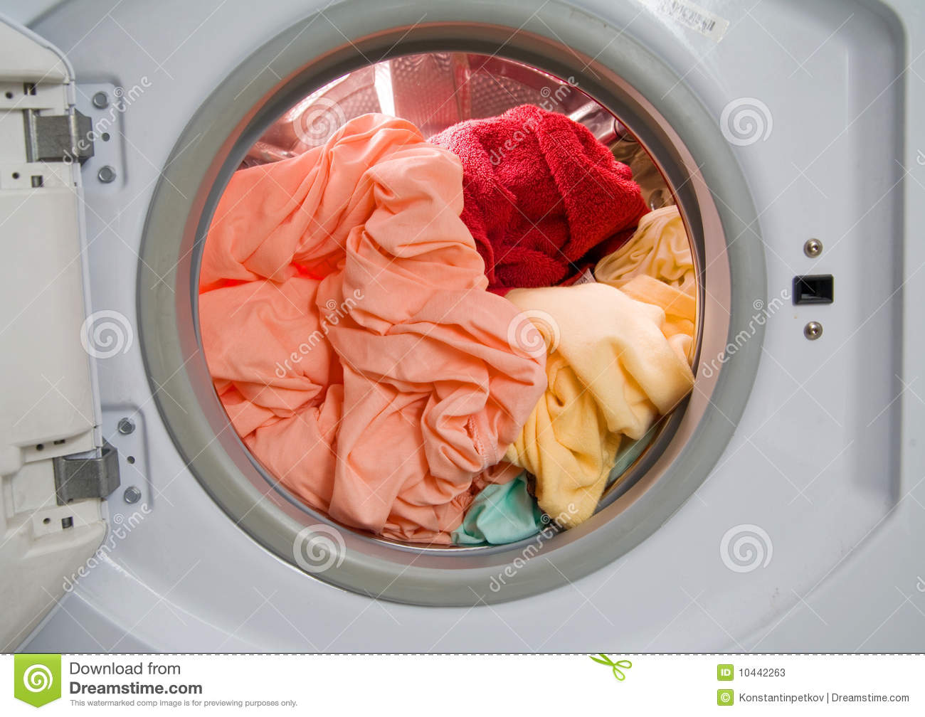 Dirty Laundry In Washing Machine Stock Image Image Of