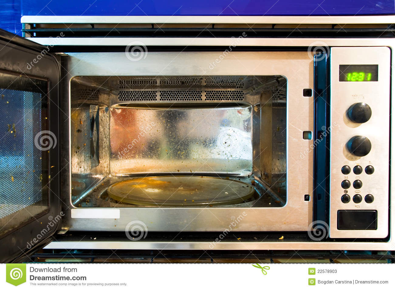 Dirty Microwave Oven ~ Dirty microwave oven stock photos image