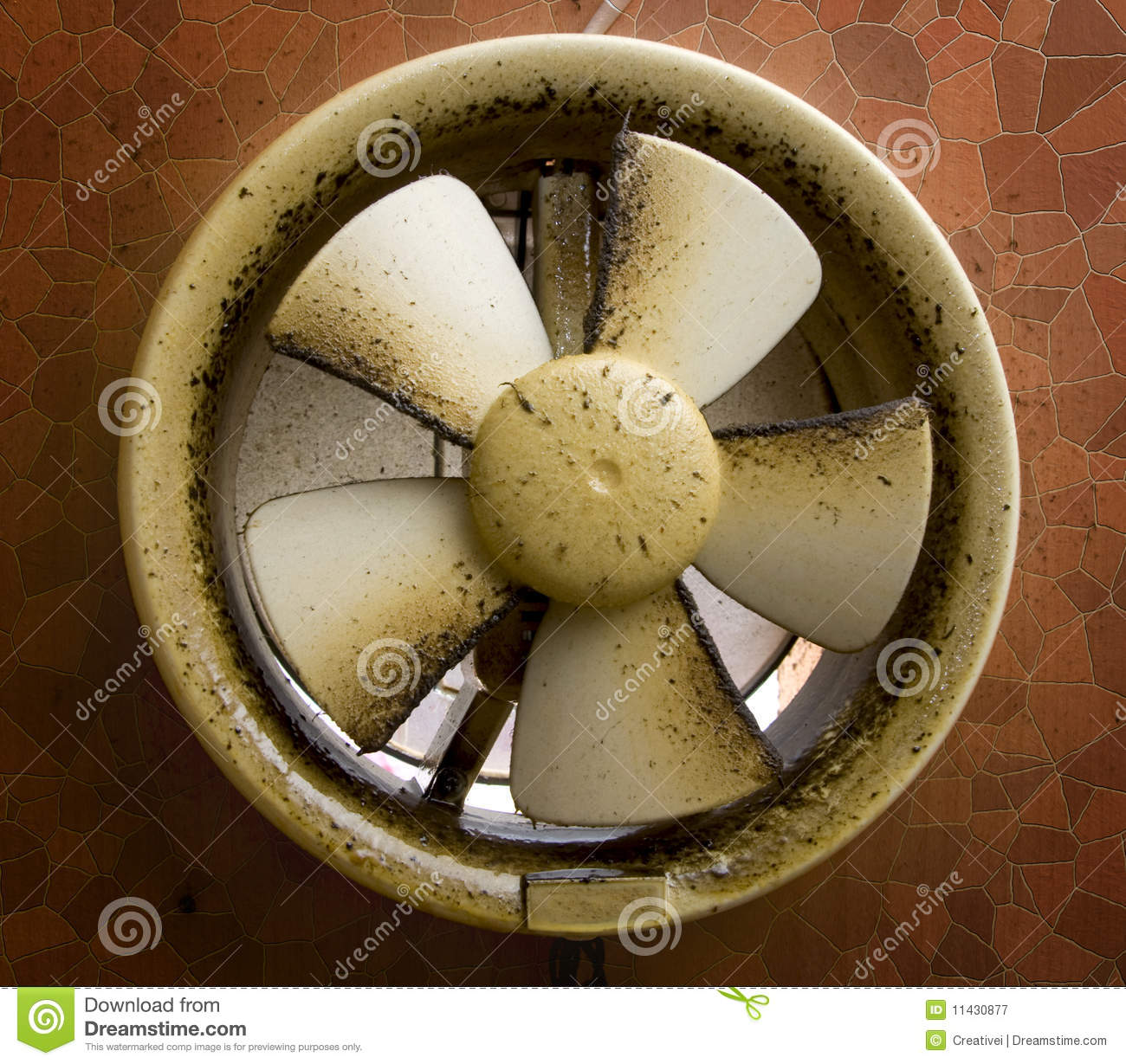 Dirty Exhaust Hood ~ Dirty oil stained exhaust fan stock image